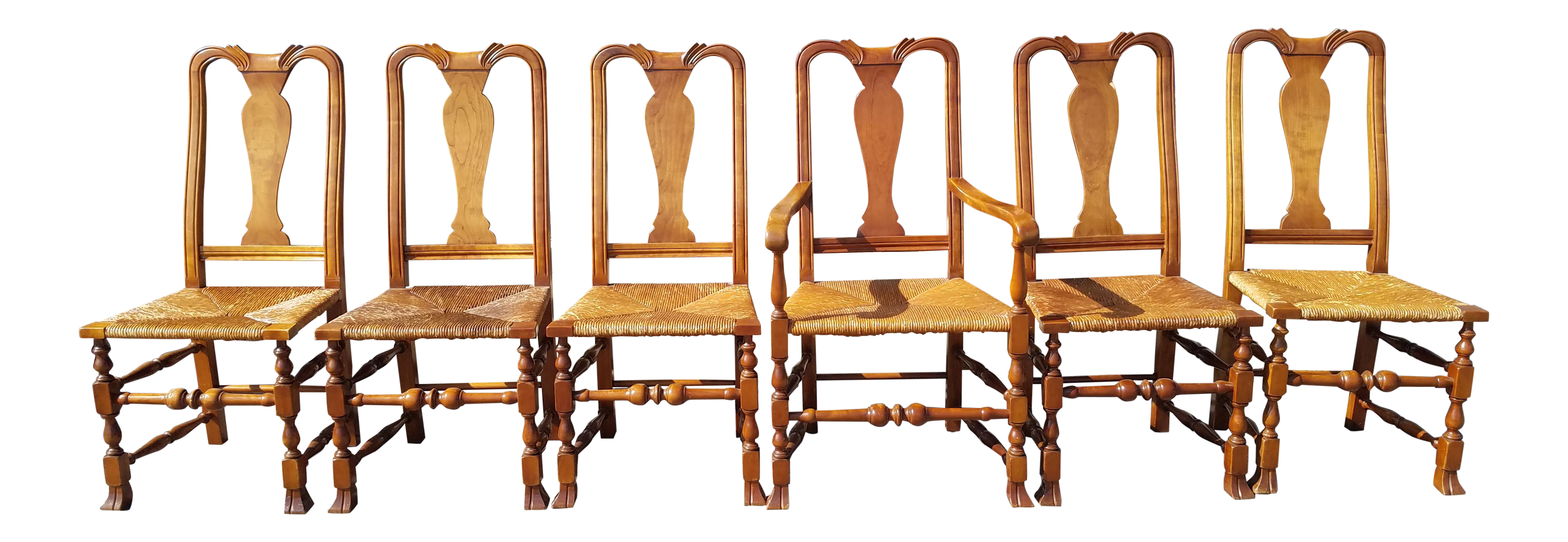 Stickley Queen Anne Dining Chairs Set Of 6 Chairish