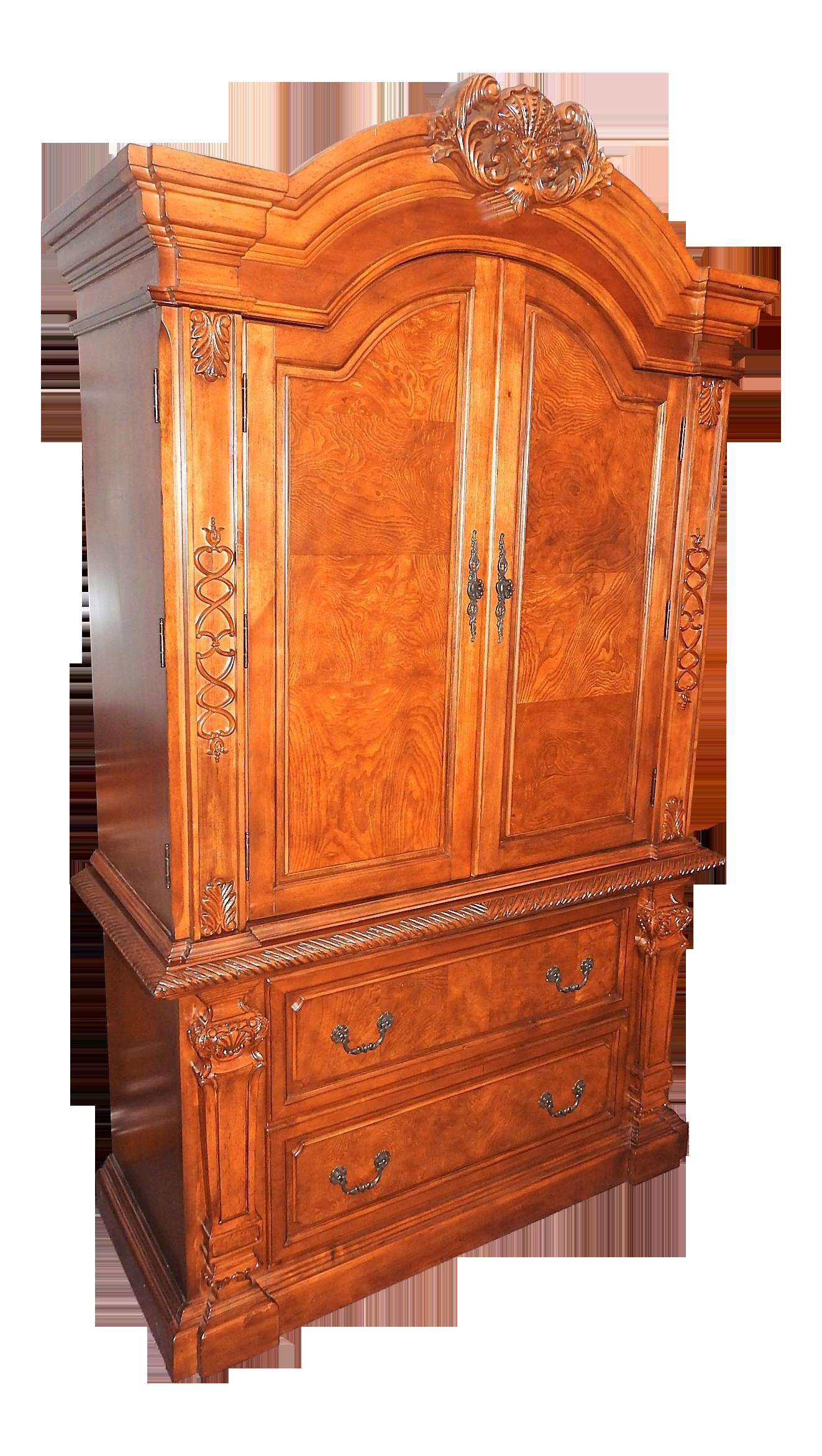 Luxury Cherry Tv Armoire Amp Dresser Set Chairish
