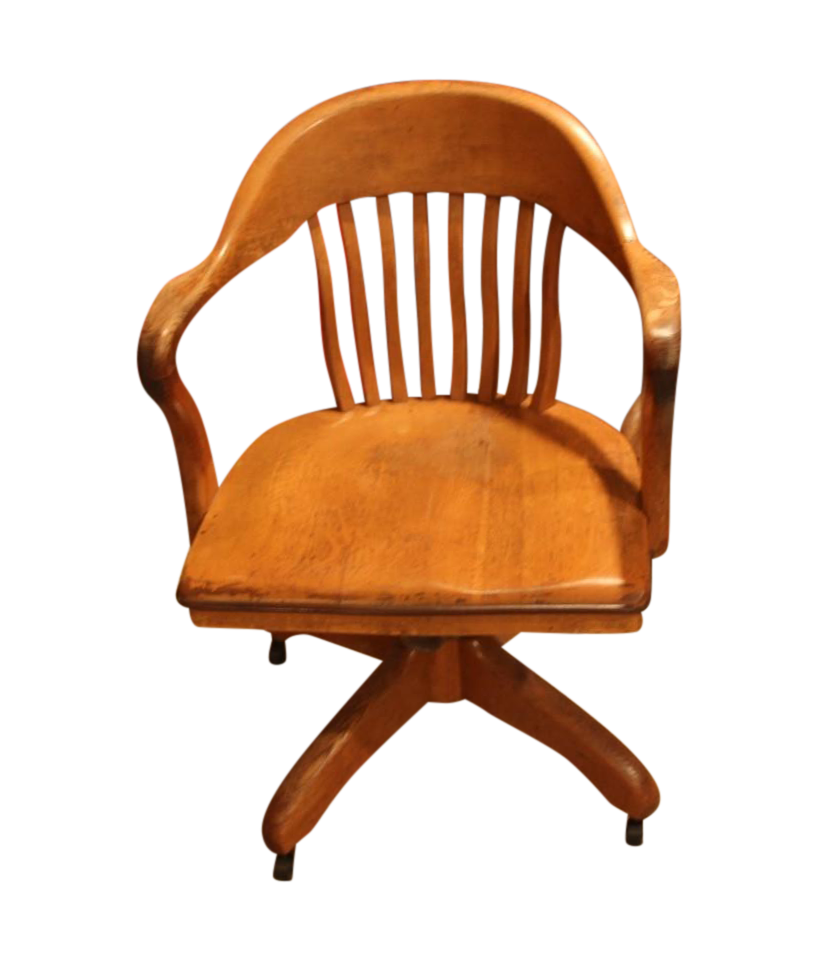Antique Office Chair With Casters Chairish
