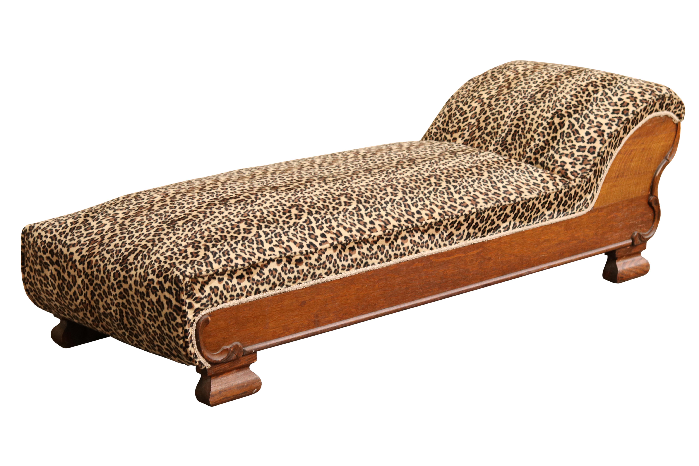 1904 Sears Roebuck Chaise Lounge In Cheetah Print Chairish