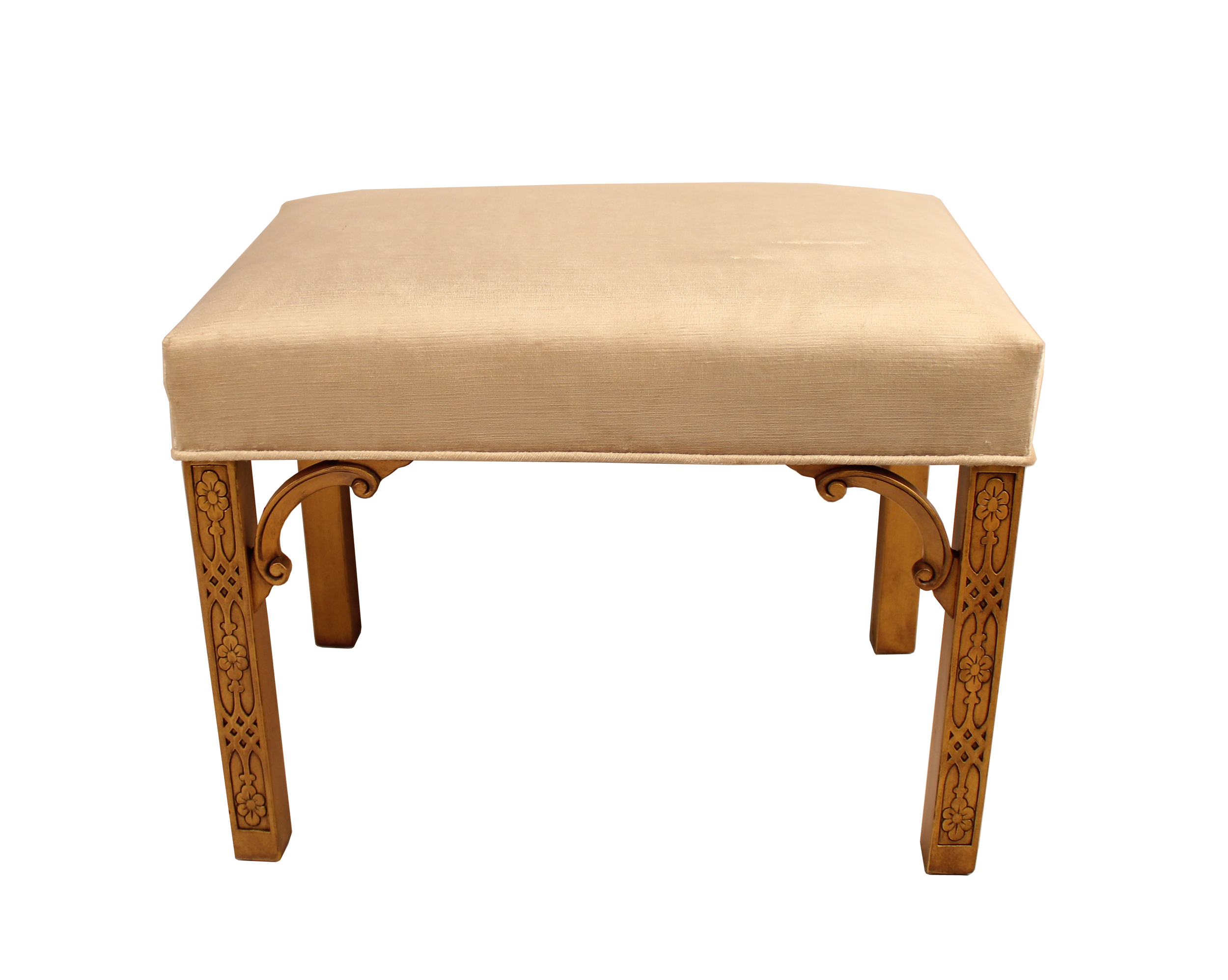 Chinese Chippendale Giltwood Bench Chairish