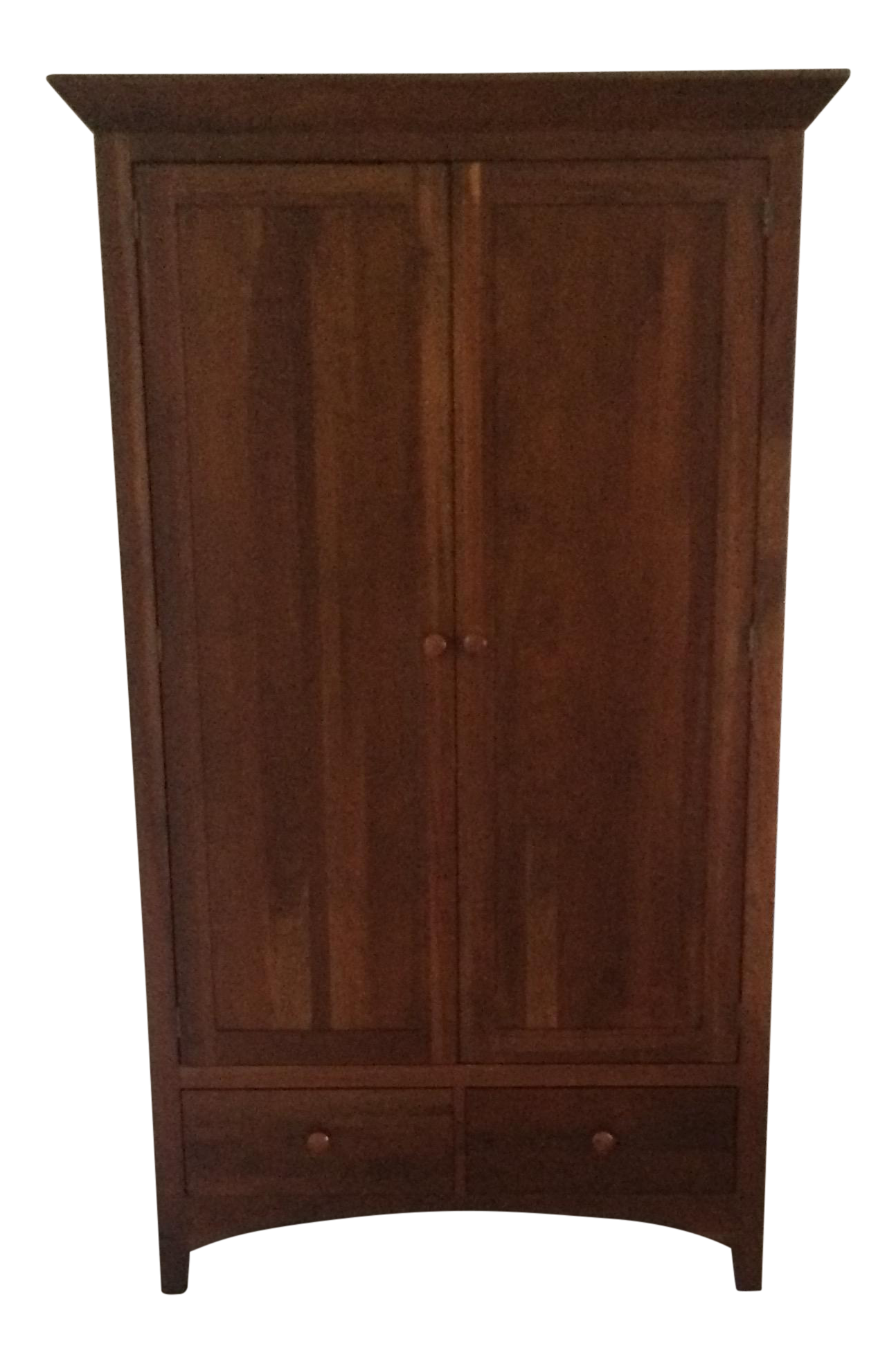 Ethan Allen American Impressions Solid Cherry Armoire : Chairish