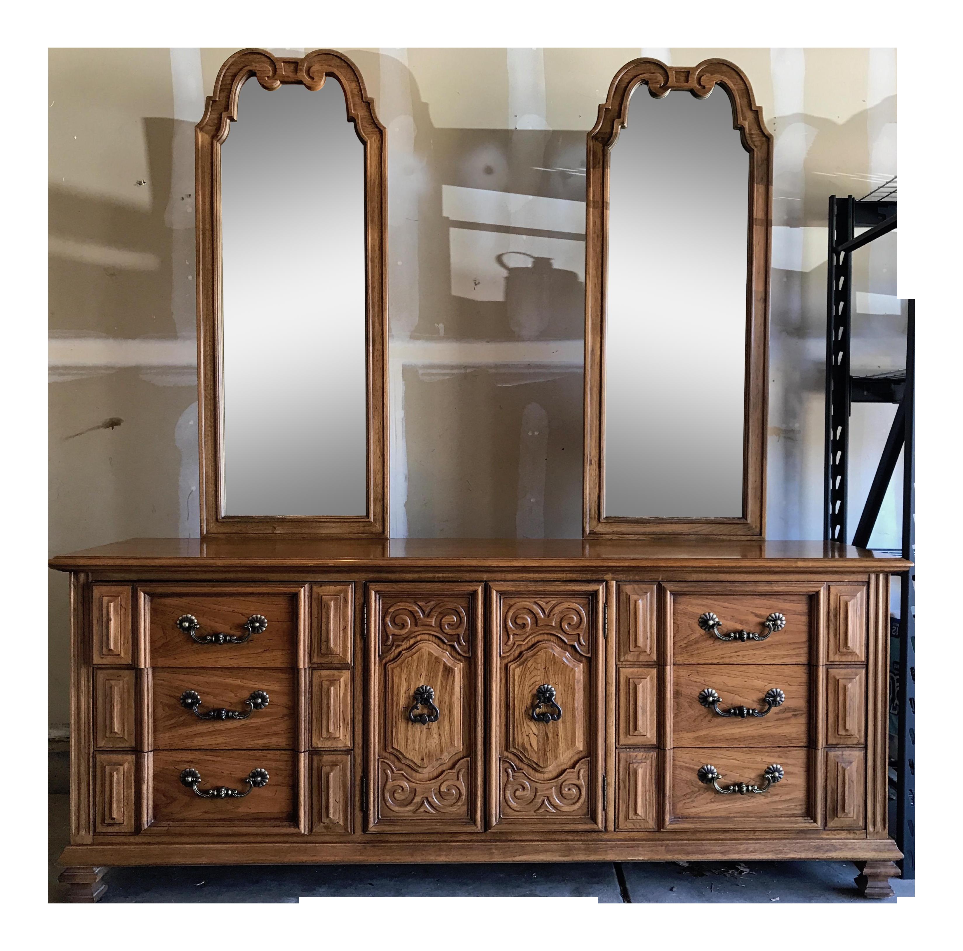 Vintage Thomasville Oak Dresser Chairish