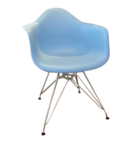 Eames style blue wire base chair chairish for Chaise wire eames