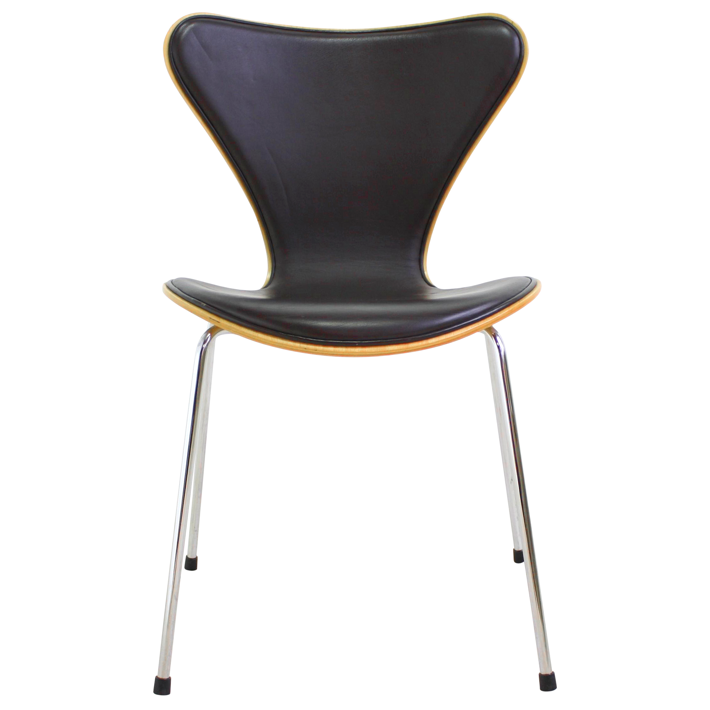 arne jacobsen series 7 brn chair chairish. Black Bedroom Furniture Sets. Home Design Ideas