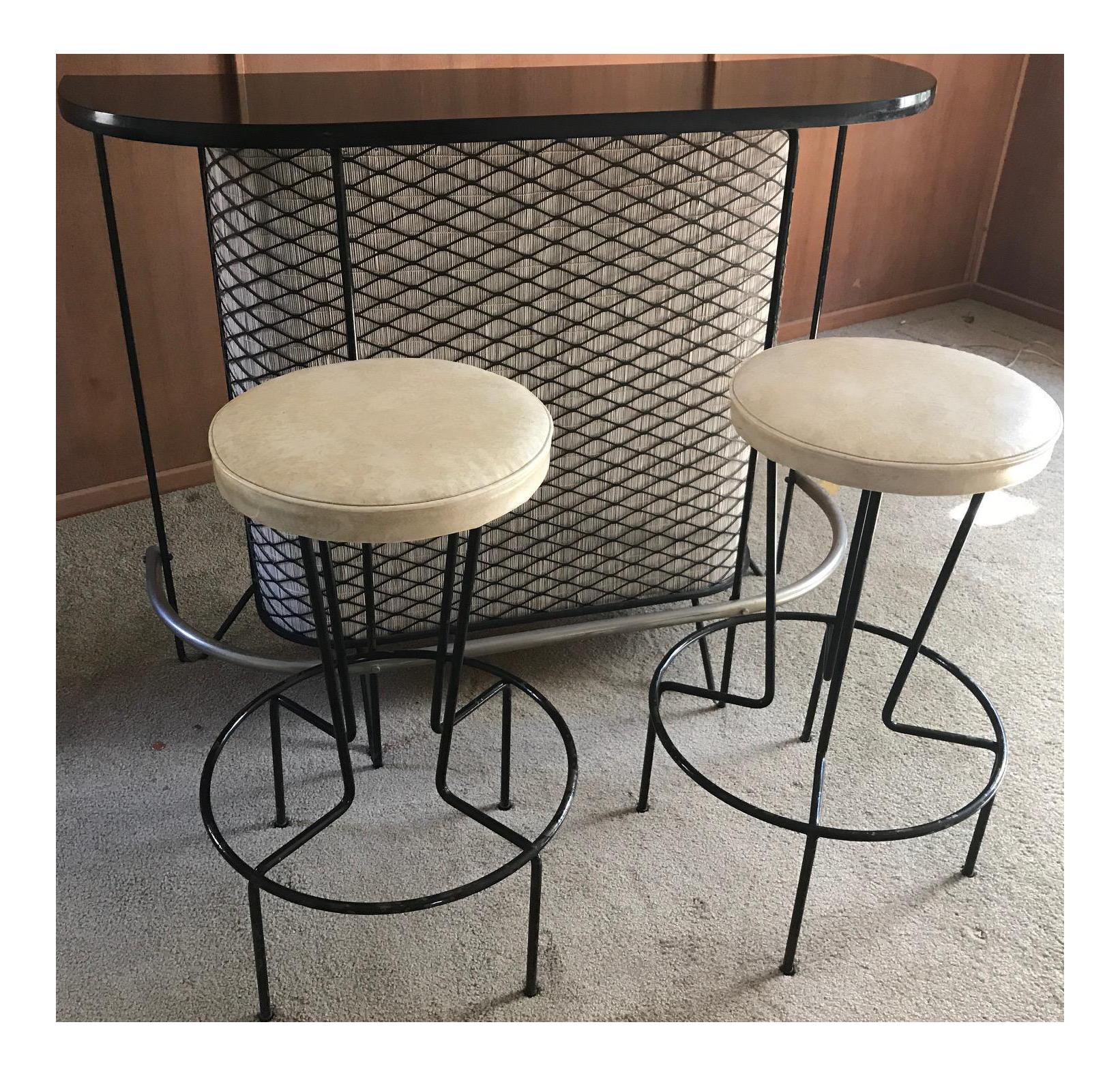Mid Century Modern Frederick Weinberg Wrought Iron Bar