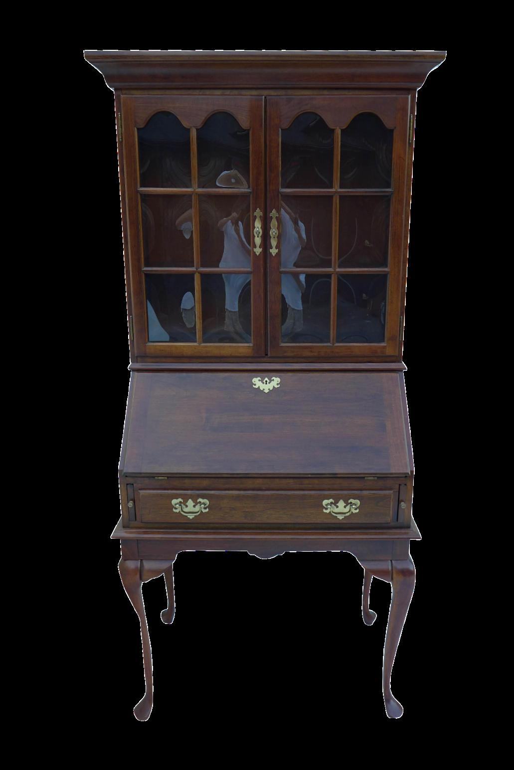 French Style Walnut Wood Secretary Desk 2 Pieces Chairish