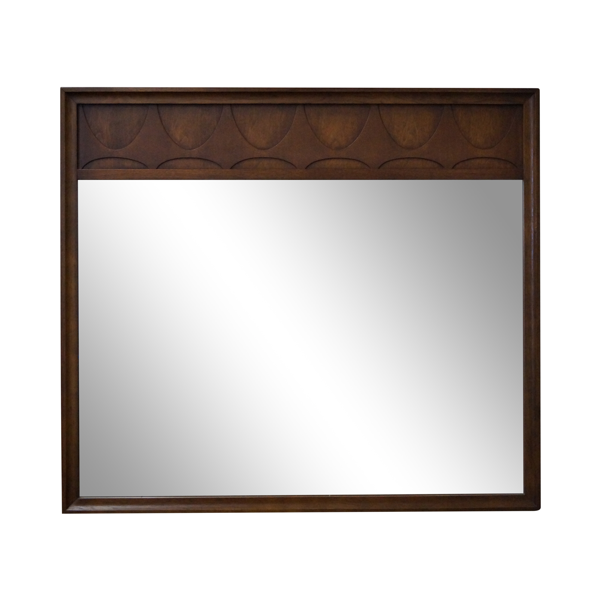 Mid Century Modern Walnut Brasilia Mirror Chairish