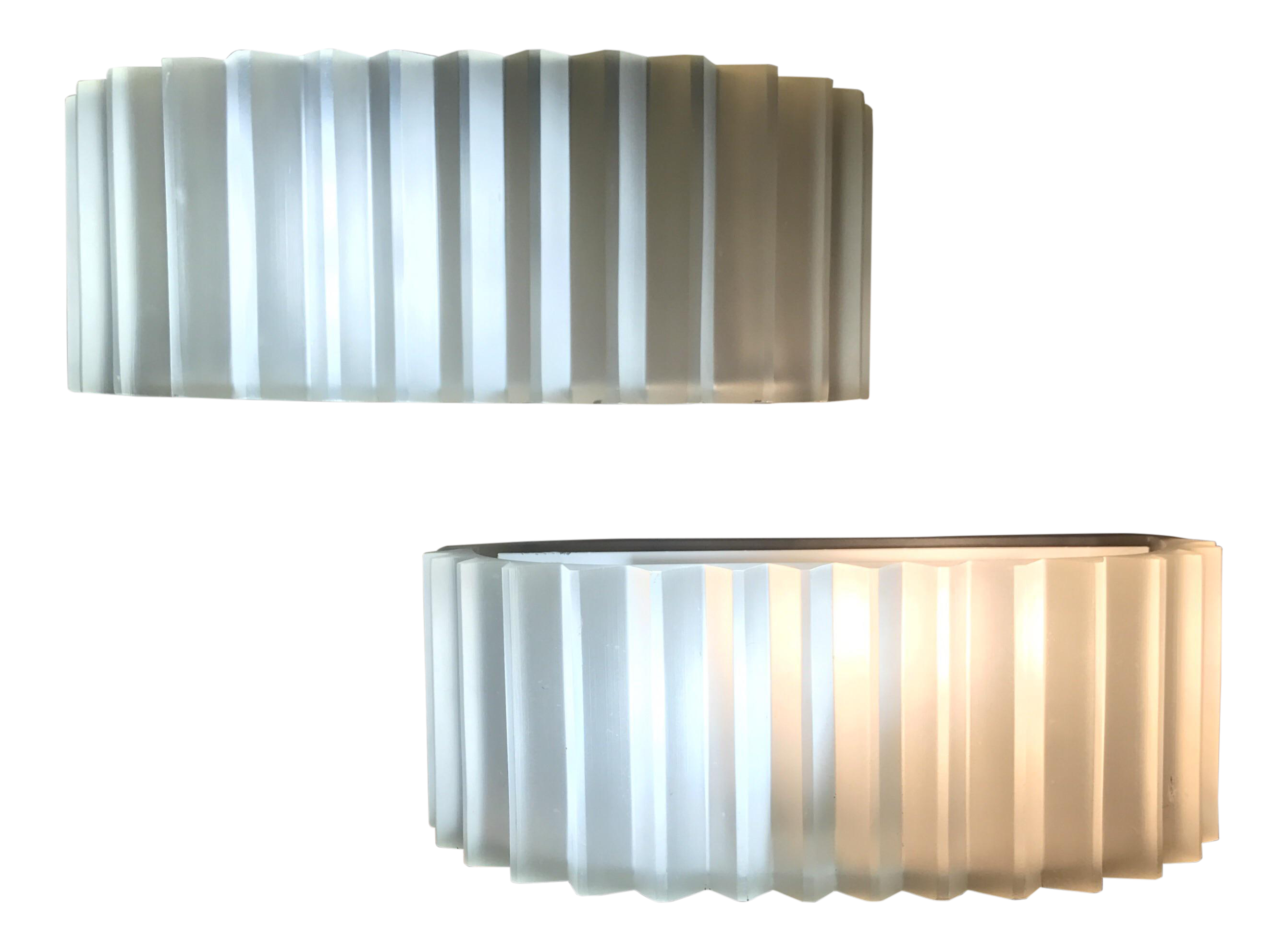 Sirmos cast resin white sconces a pair chairish for Kitchen cabinets lowes with cast resin wall art
