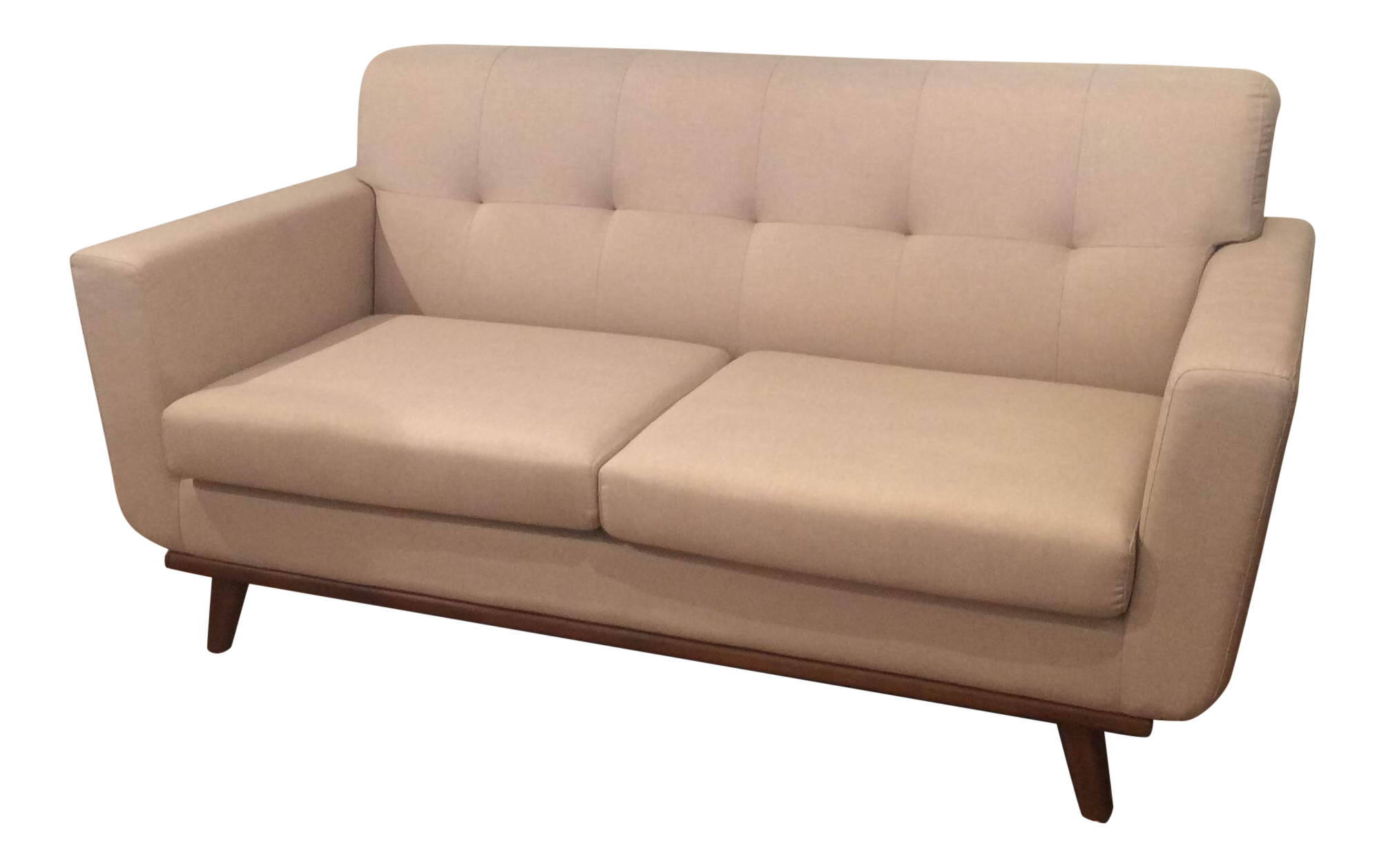 Mid Century Ivory Loveseat Chairish