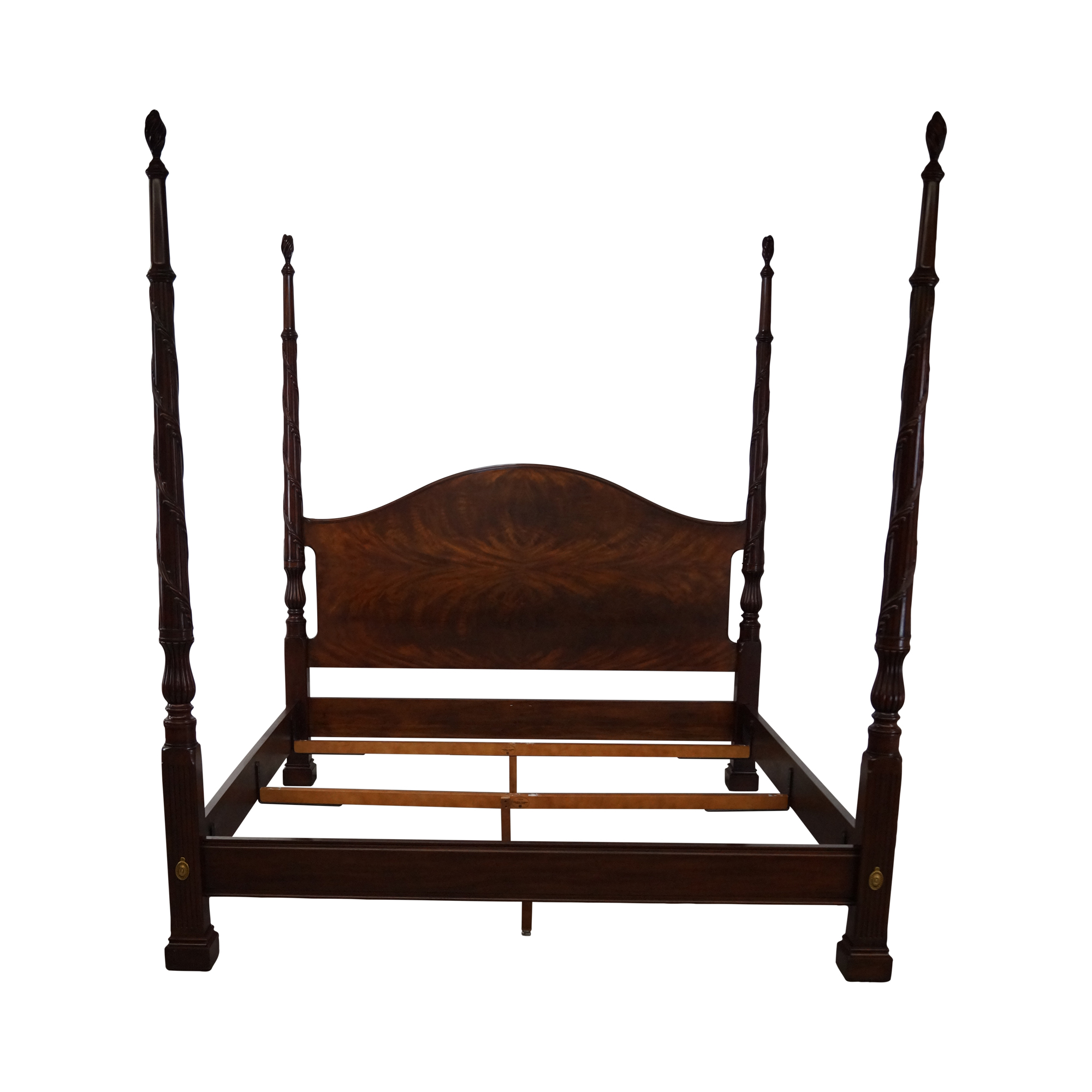 henkel harris flame mahogany king size poster bed chairish