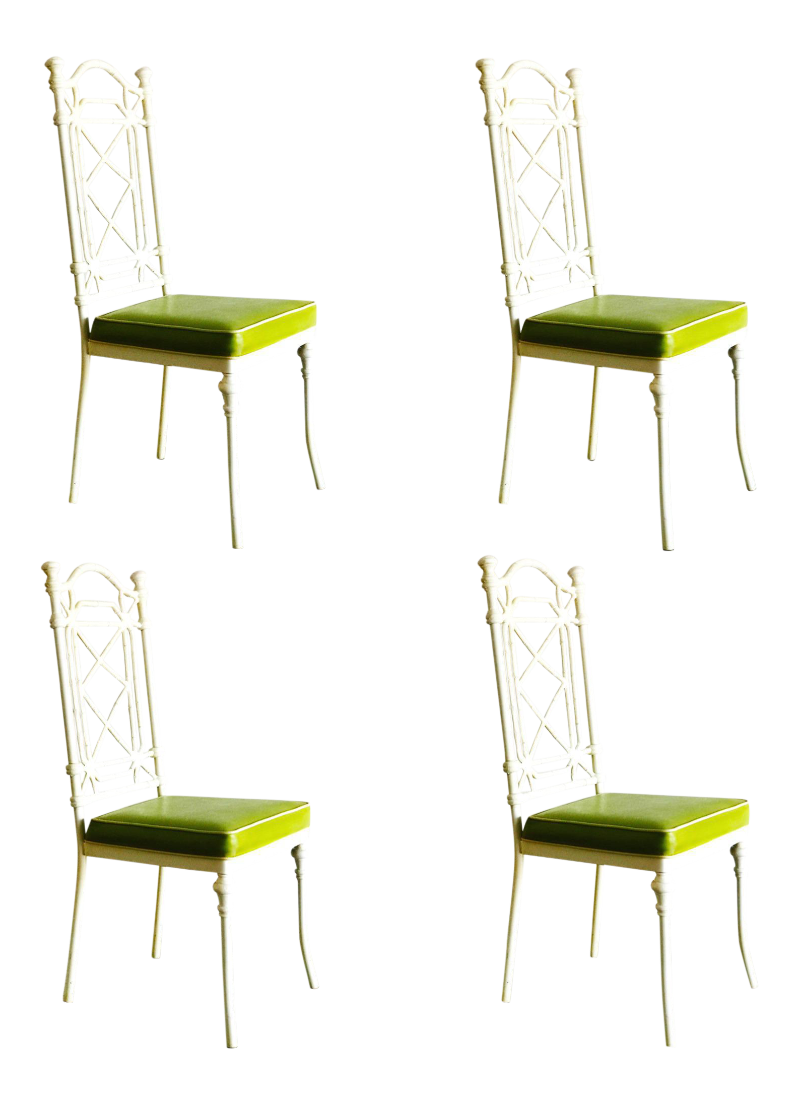 Kessler Cast Iron Bamboo Chairs Set of Four