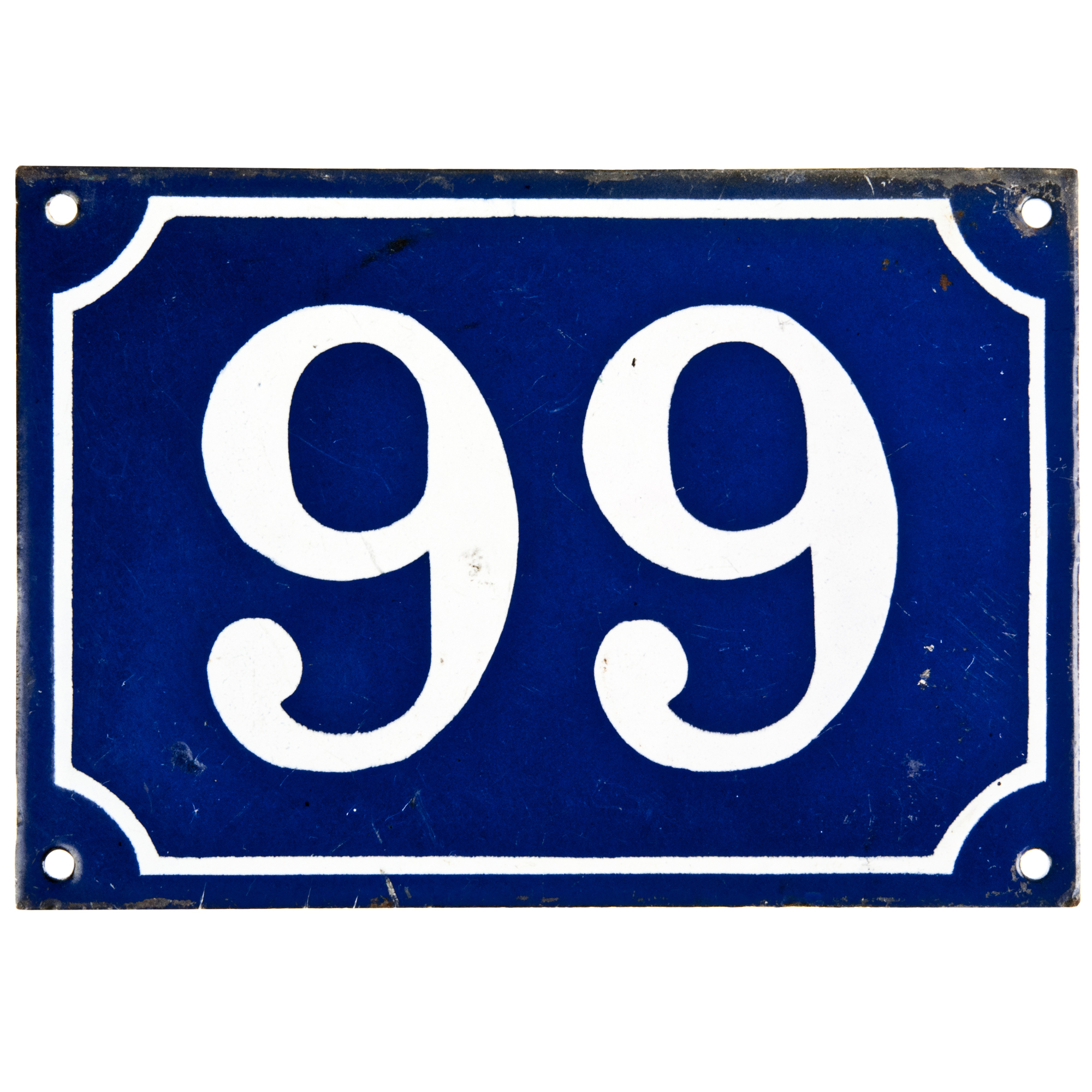 Vintage French House Number 99
