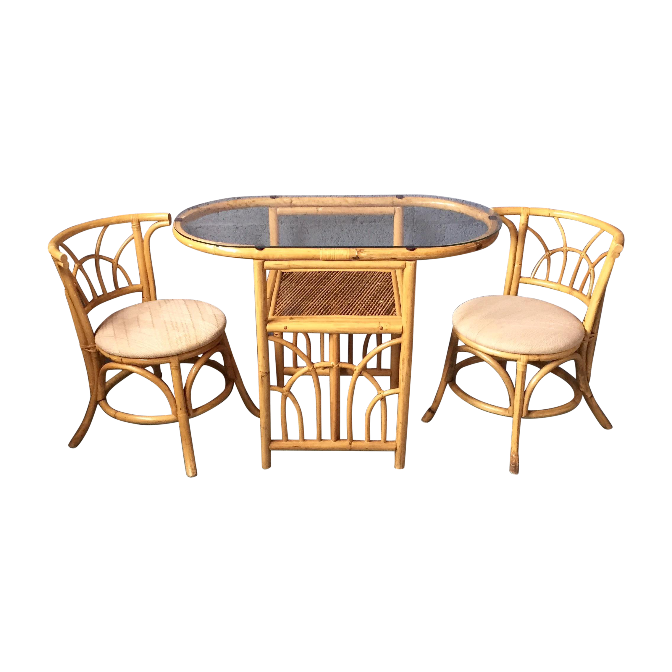 Vintage 1980s Bamboo Dining Set