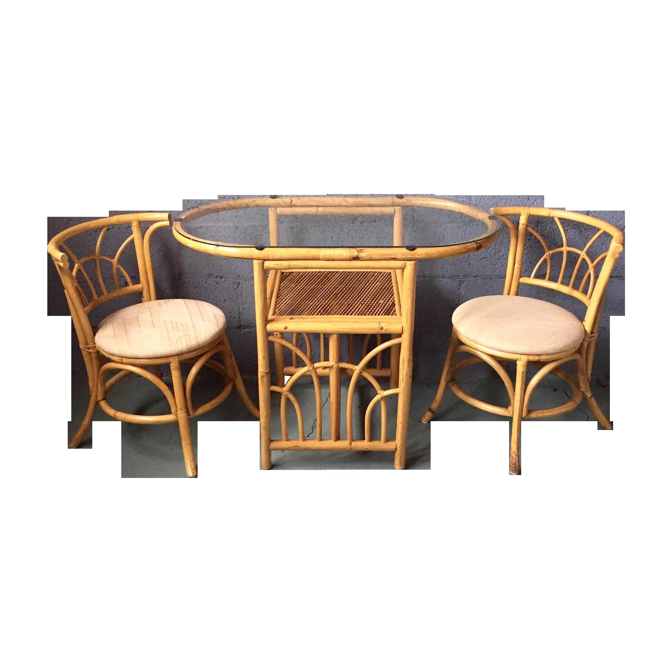 Vintage s bamboo dining set chairish