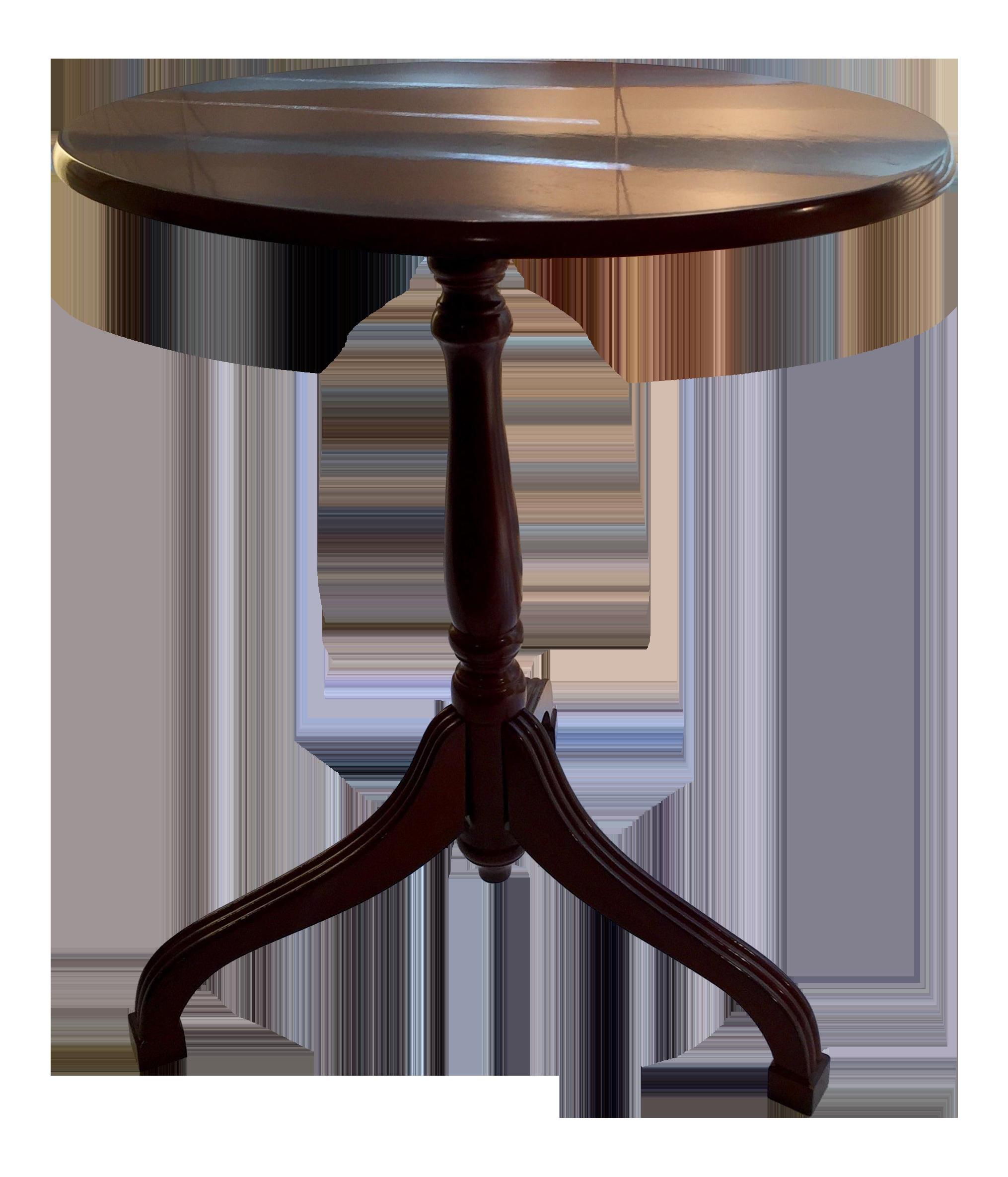 Bombay Company Flip Top Cherry Tripod Side Table Chairish