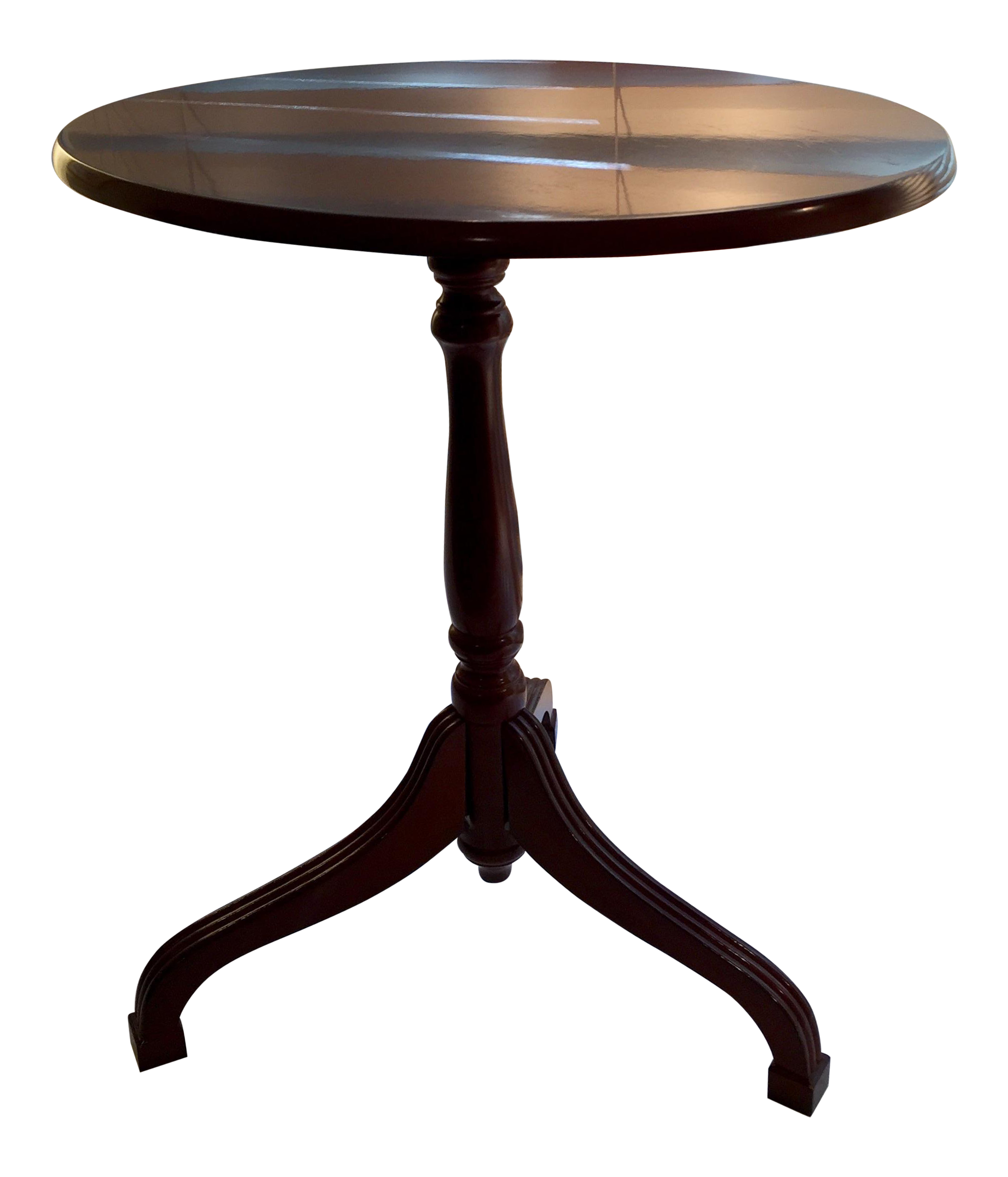 Bombay pany Flip Top Cherry Tripod Side Table