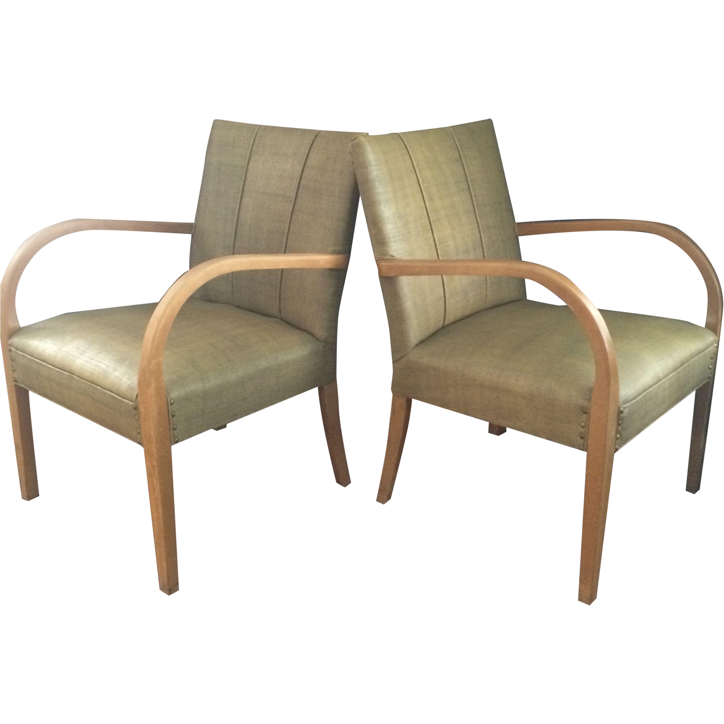 Mid century modern armchairs a pair chairish for Mid century modern armchairs