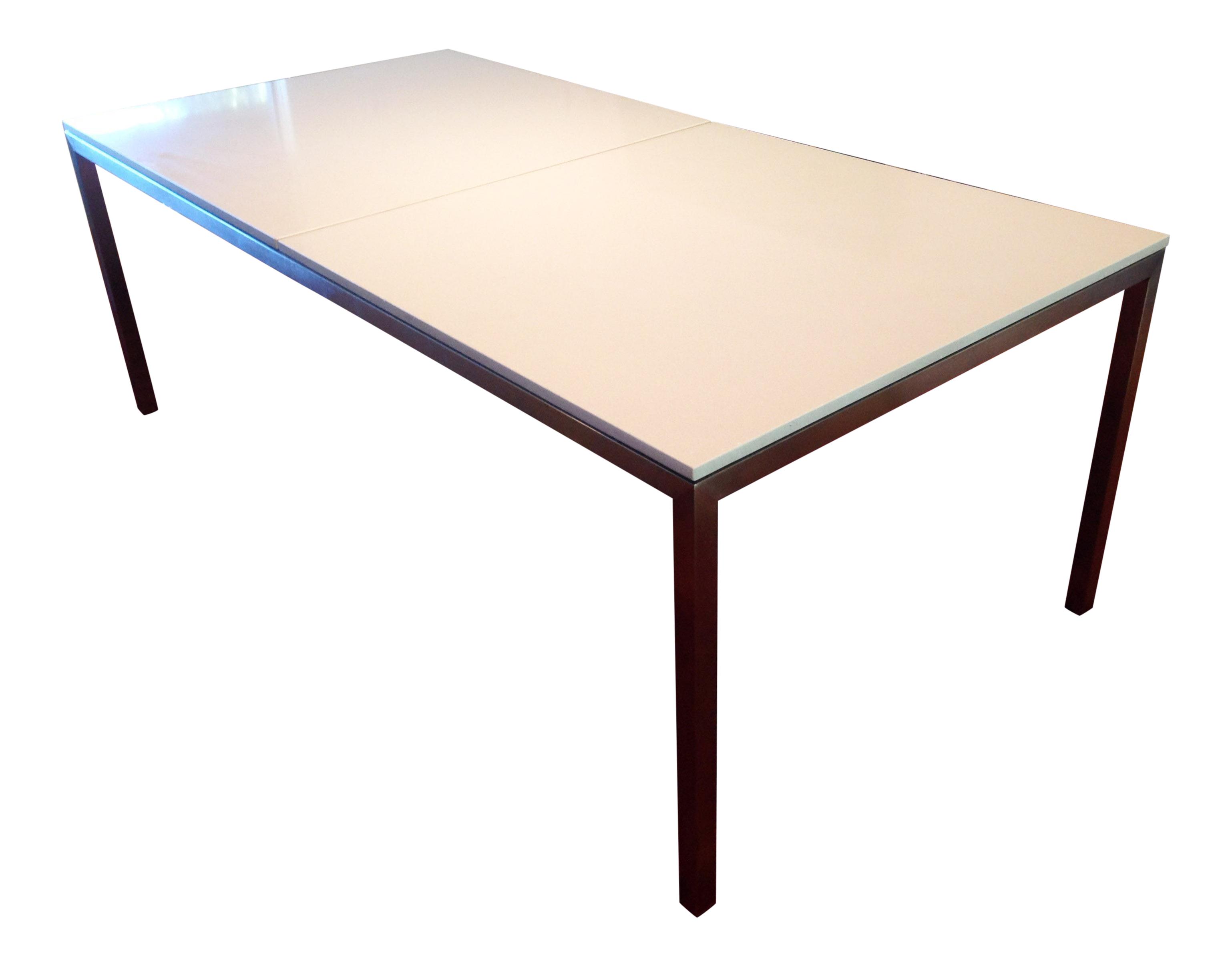 room board portica table stainless steel quartz chairish