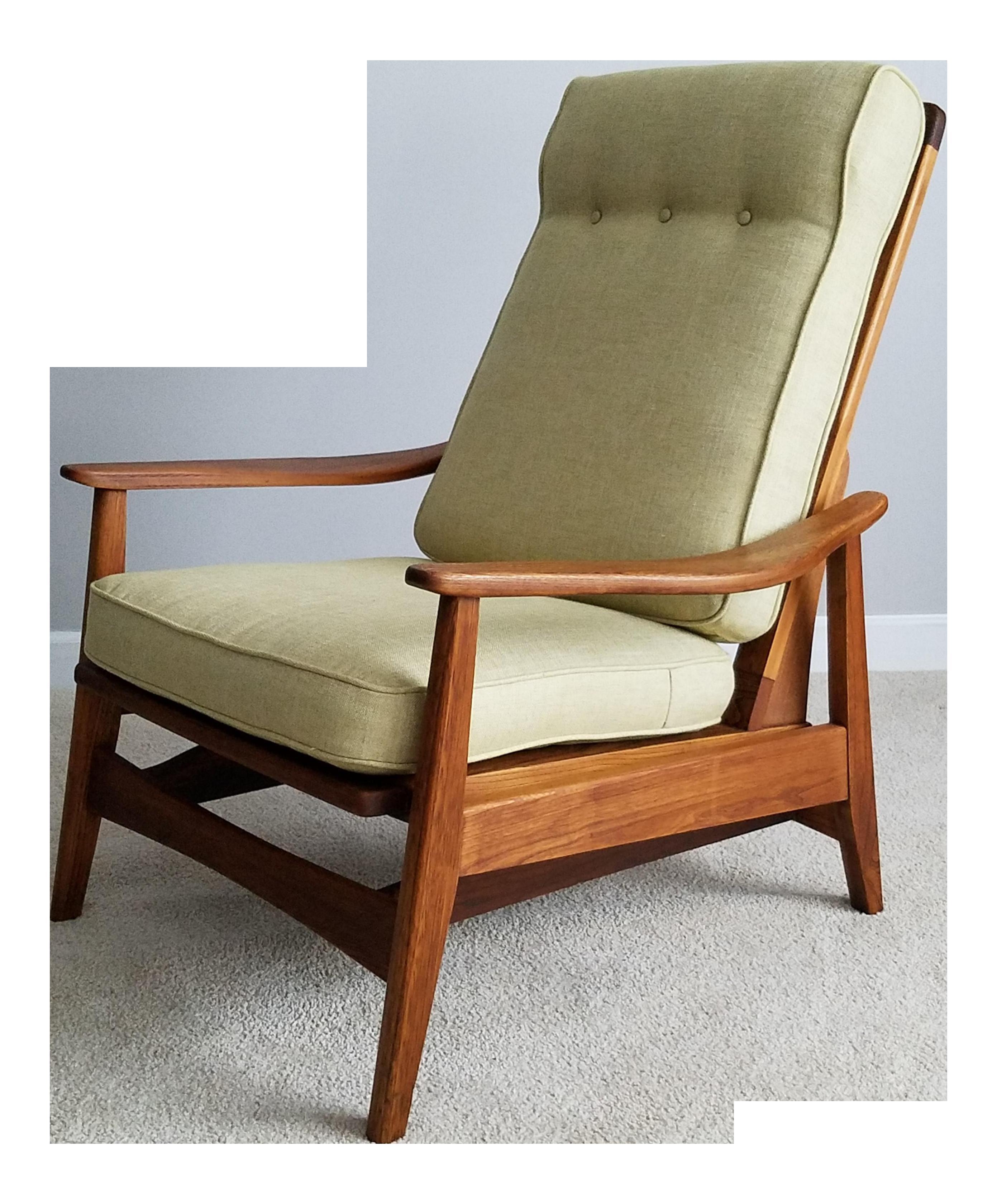 Danish Modern Mid Century Platform Rocker Lounge Chair