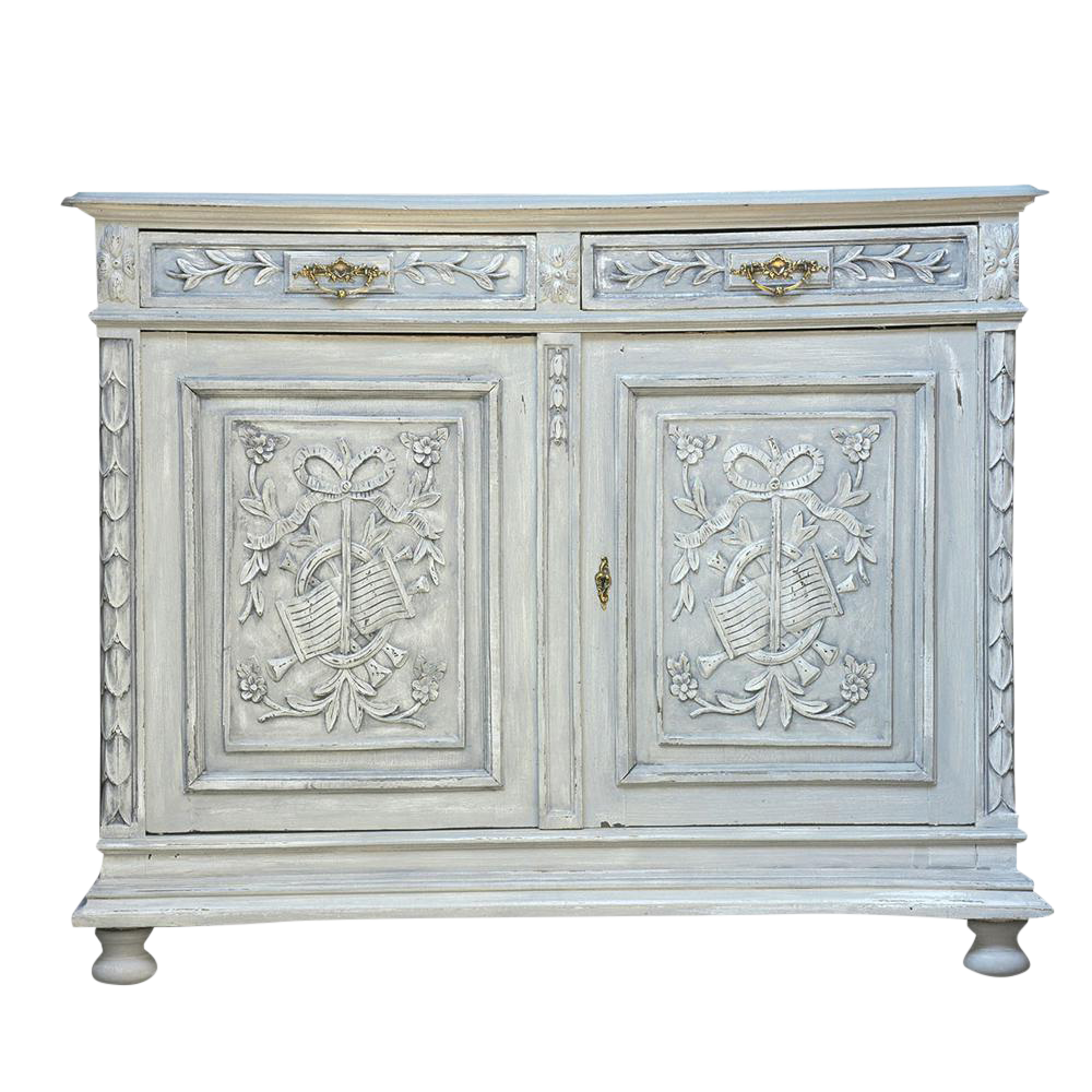 Traditional French Louis XVI Style Painted Buffet
