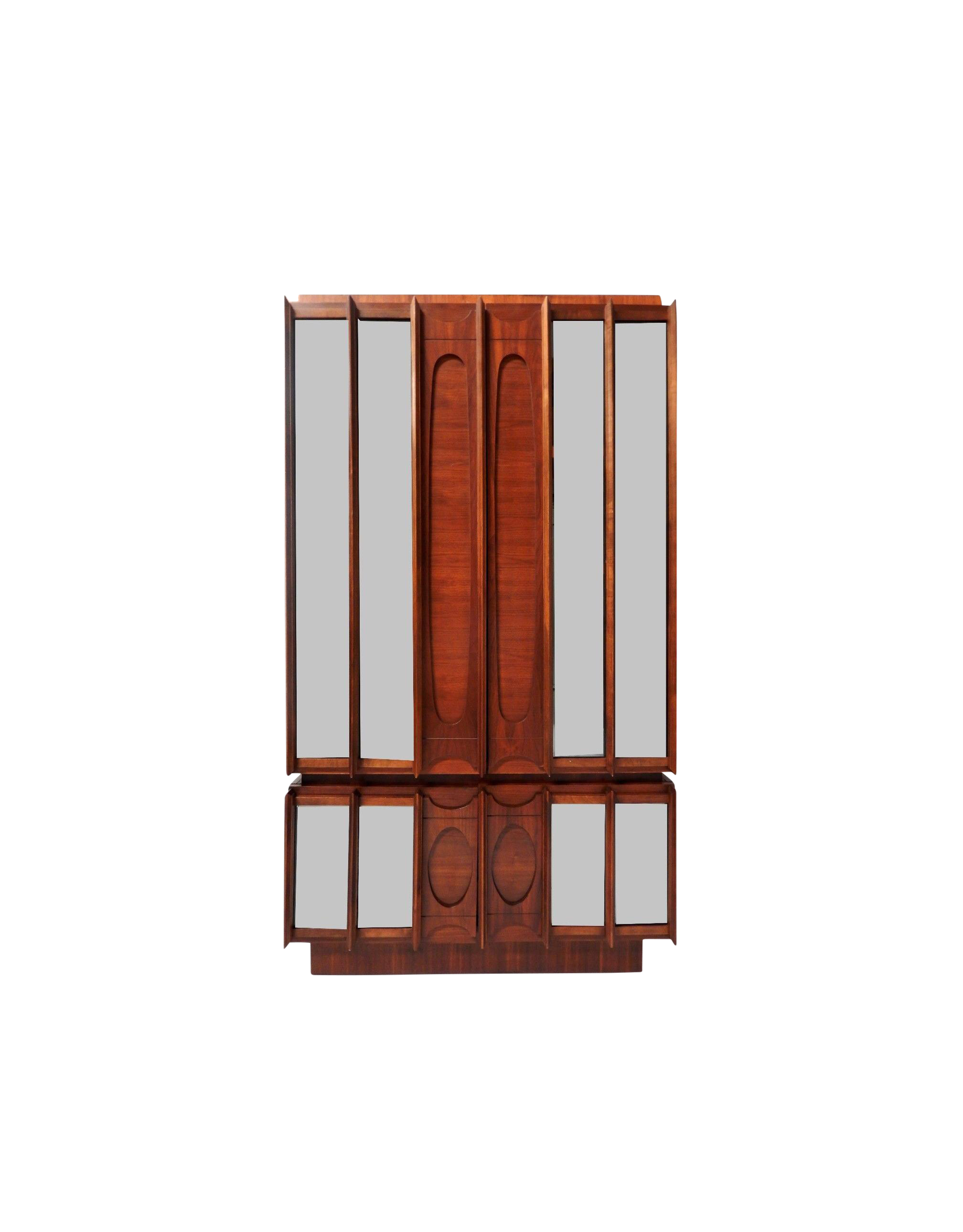 Mid Century Brutalist Wood amp Mirrored Armoire Chairish : mid century brutalist wood and mirrored armoire 8291 from www.chairish.com size 2016 x 2580 png 1034kB