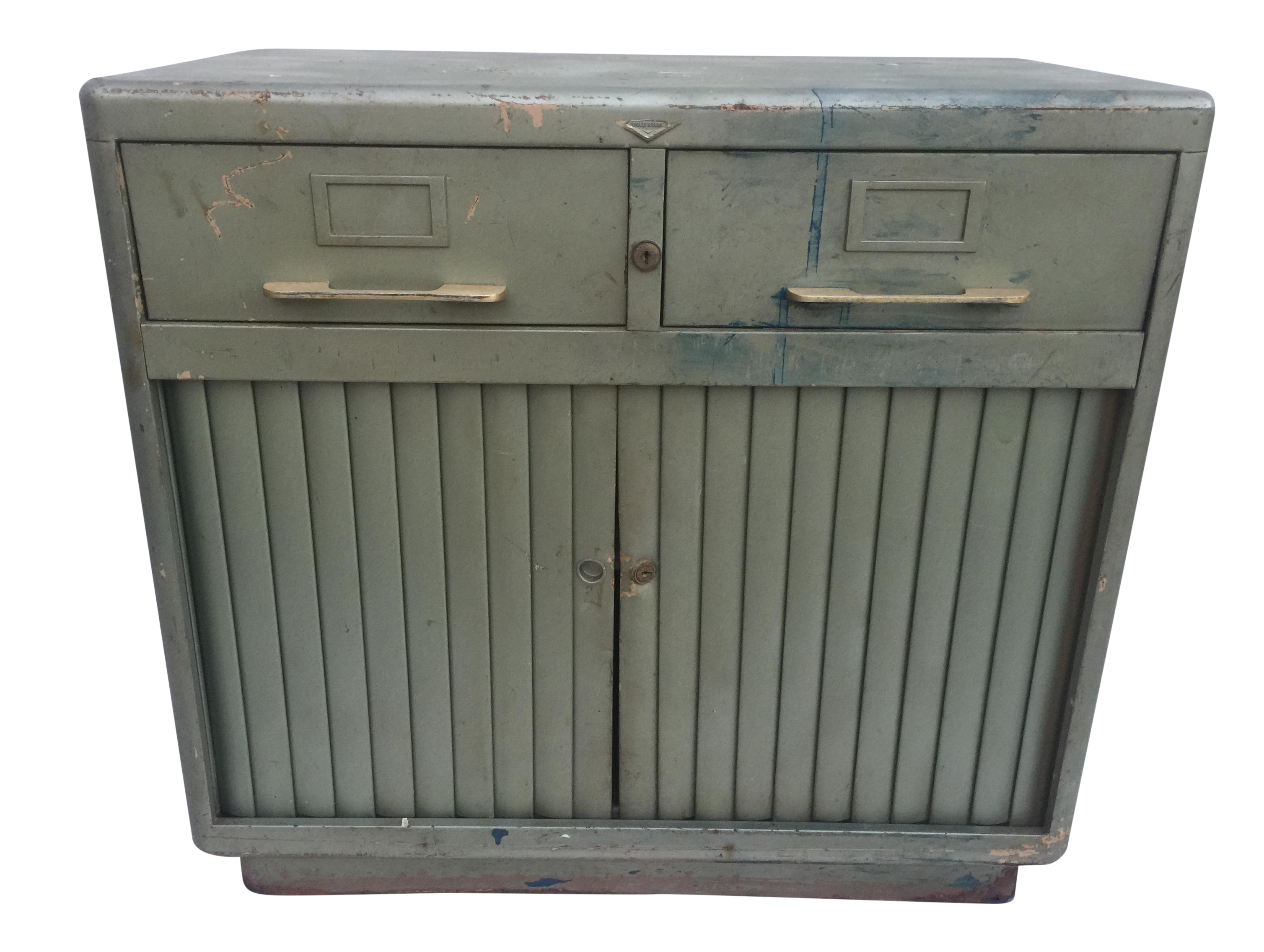 Industrial accordion door cabinet chairish - Accordion kitchen cabinet doors ...