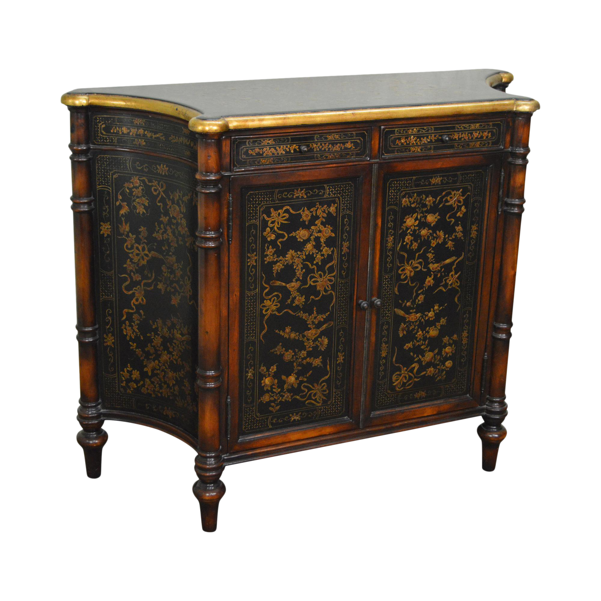 Maitland Smith Chinoiserie Hand Painted Console Cabinet