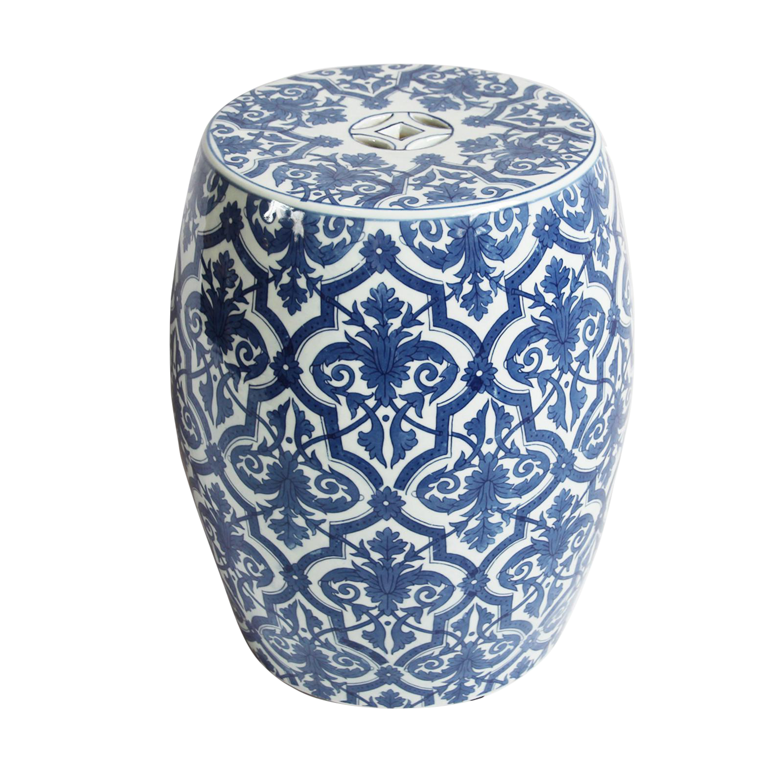 Blue Amp White Ceramic Garden Stool Chairish
