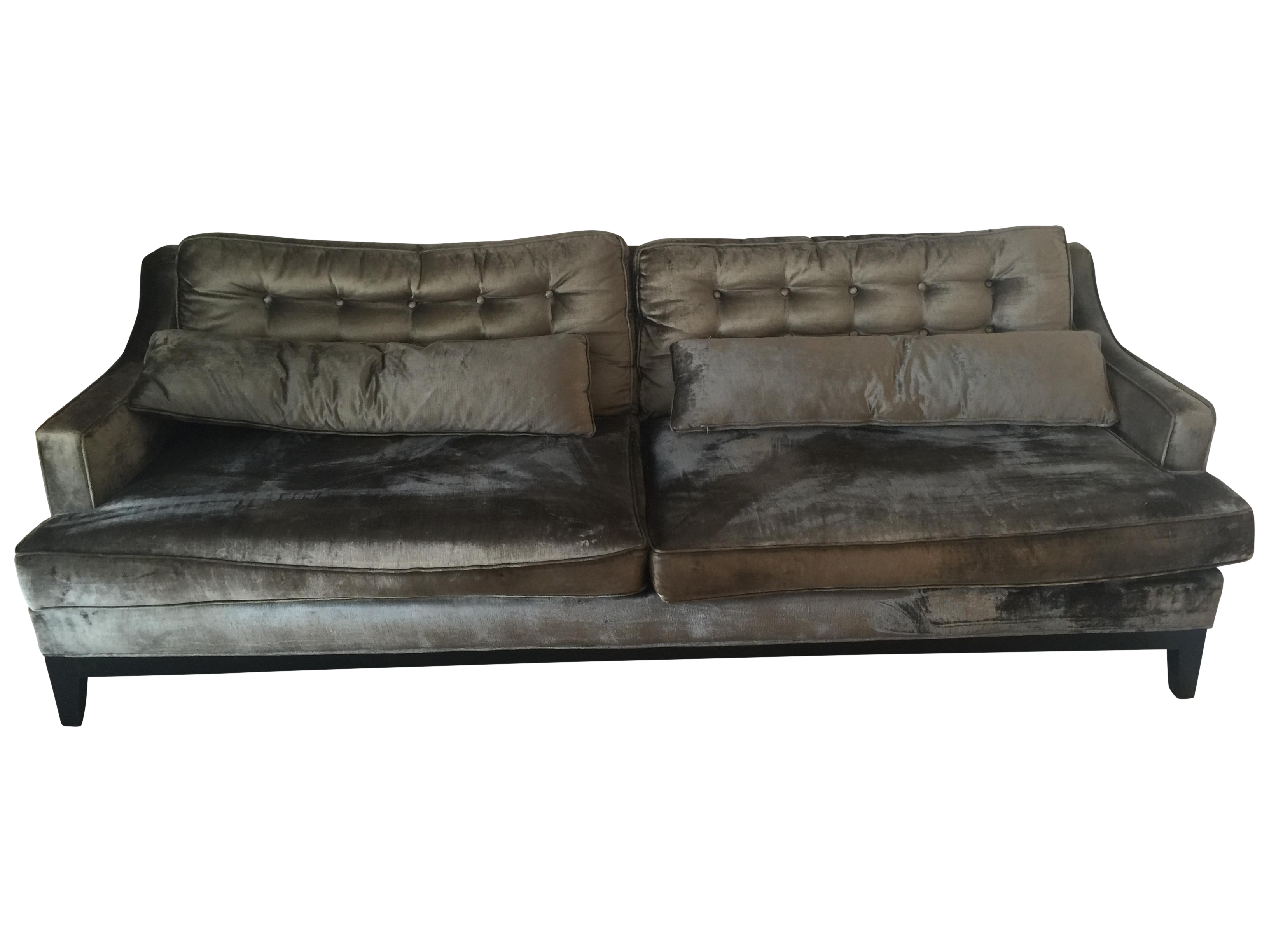 Z Gallerie Modern Gray Micro Suede Harrison Sofa | Chairish