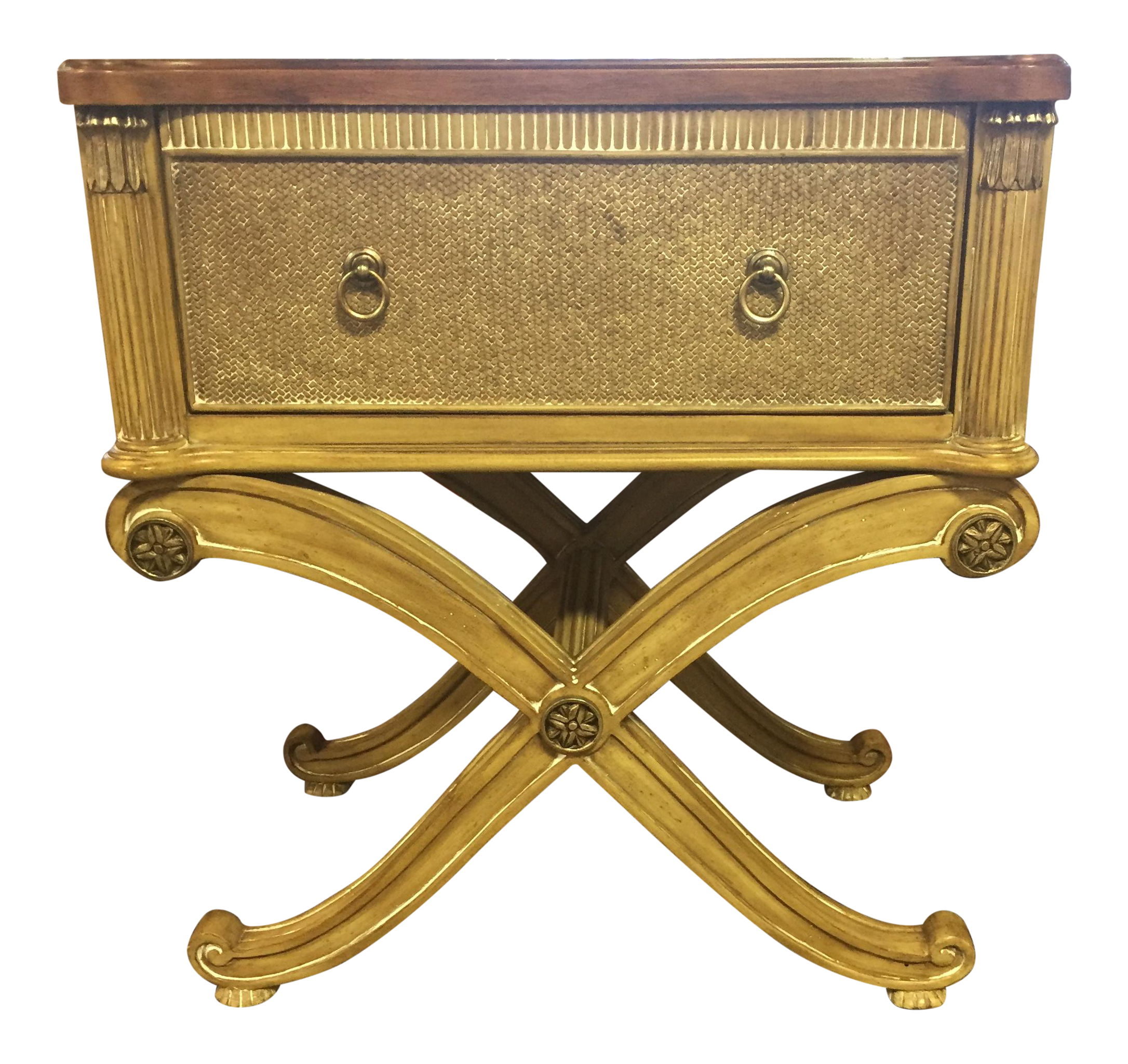 Light wood side table chest chairish for Light wood side table