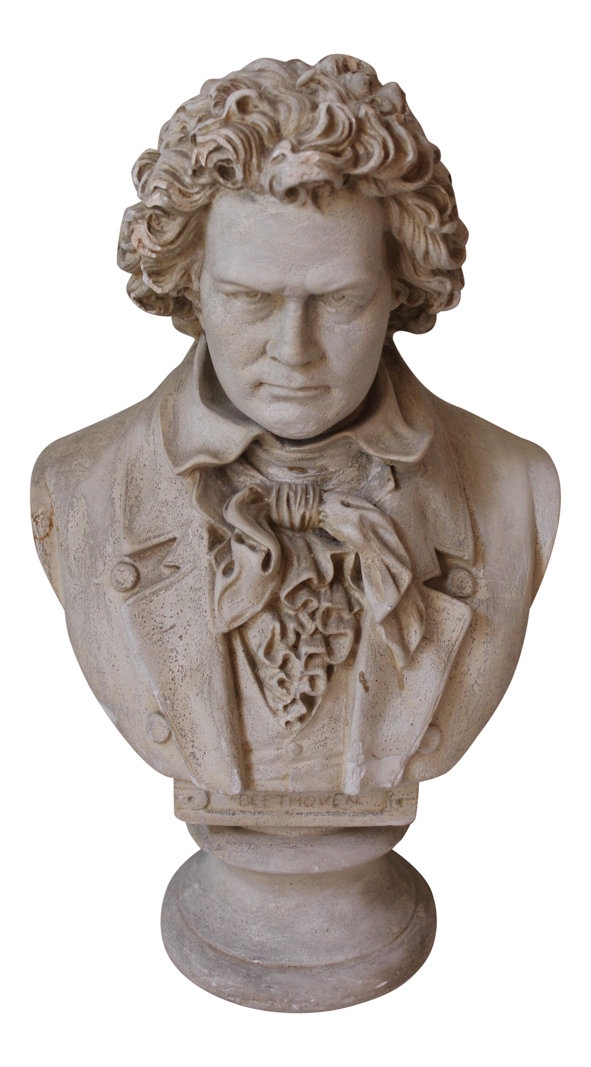 Antique Plaster Bust Of Beethoven By Boston Sculpture Co