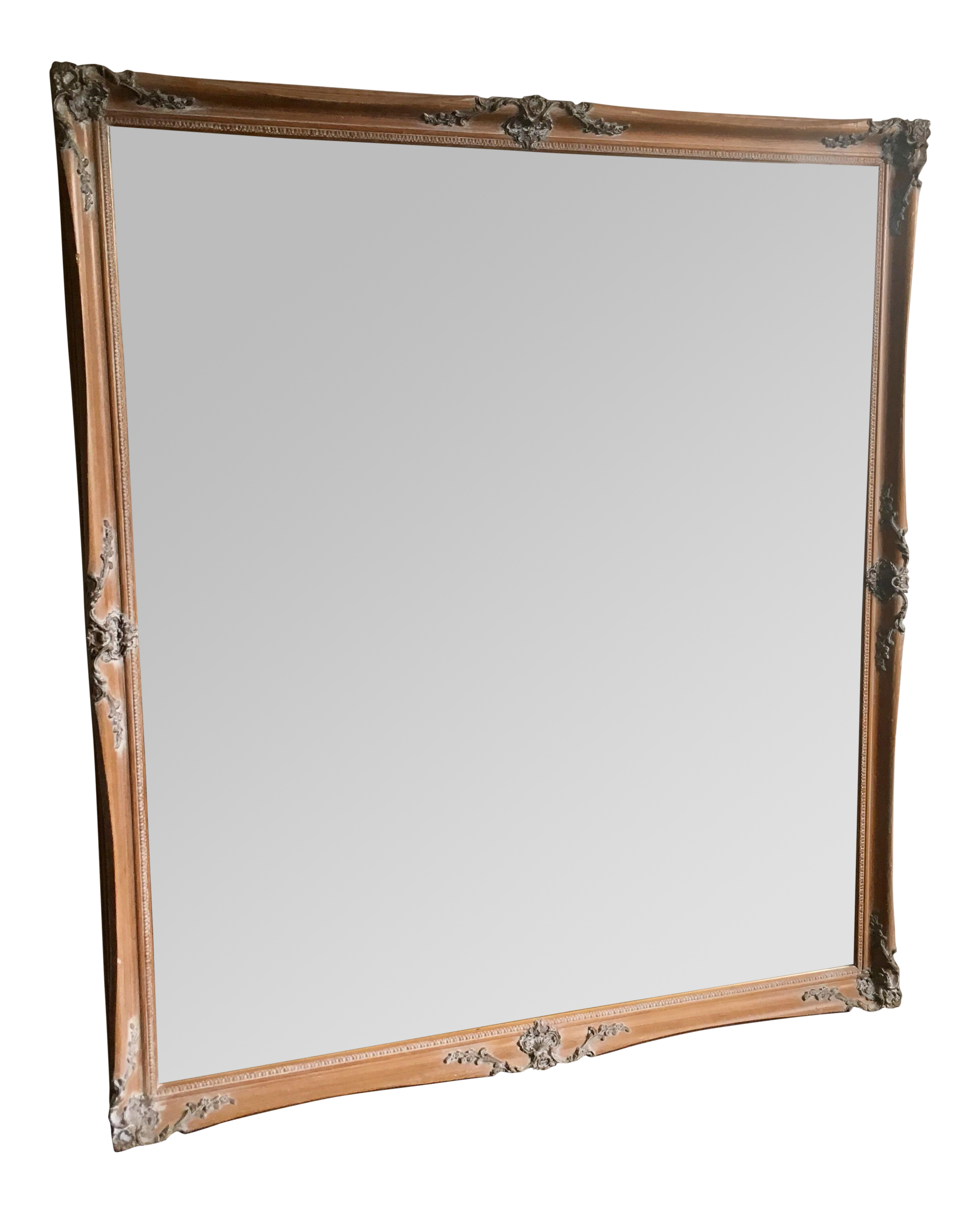 Large baroque mirror 44 x 50 chairish for Miroir 50 x 90