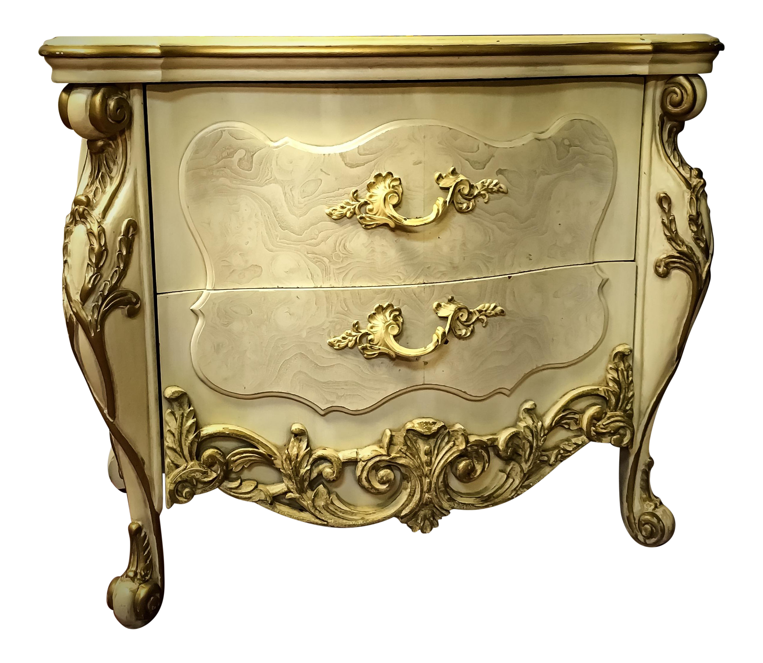 Vintage french baroque style nightstand chairish for French baroque style