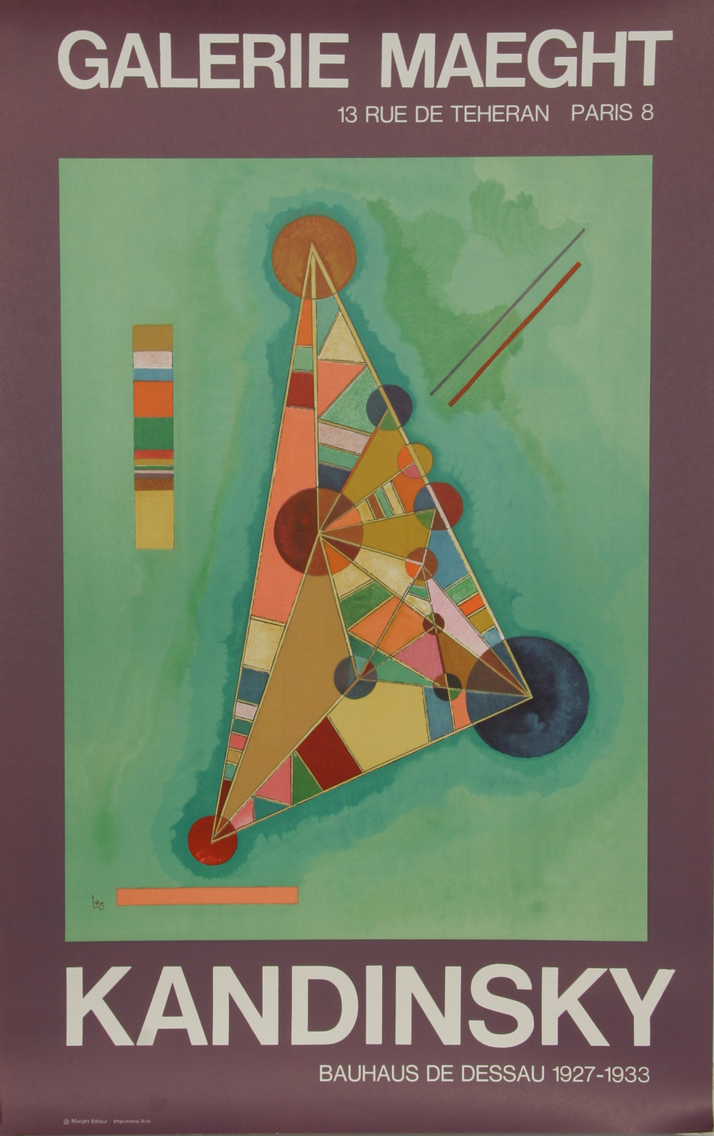 Kandinsky Exhibition At Galerie Maeght Poster Chairish