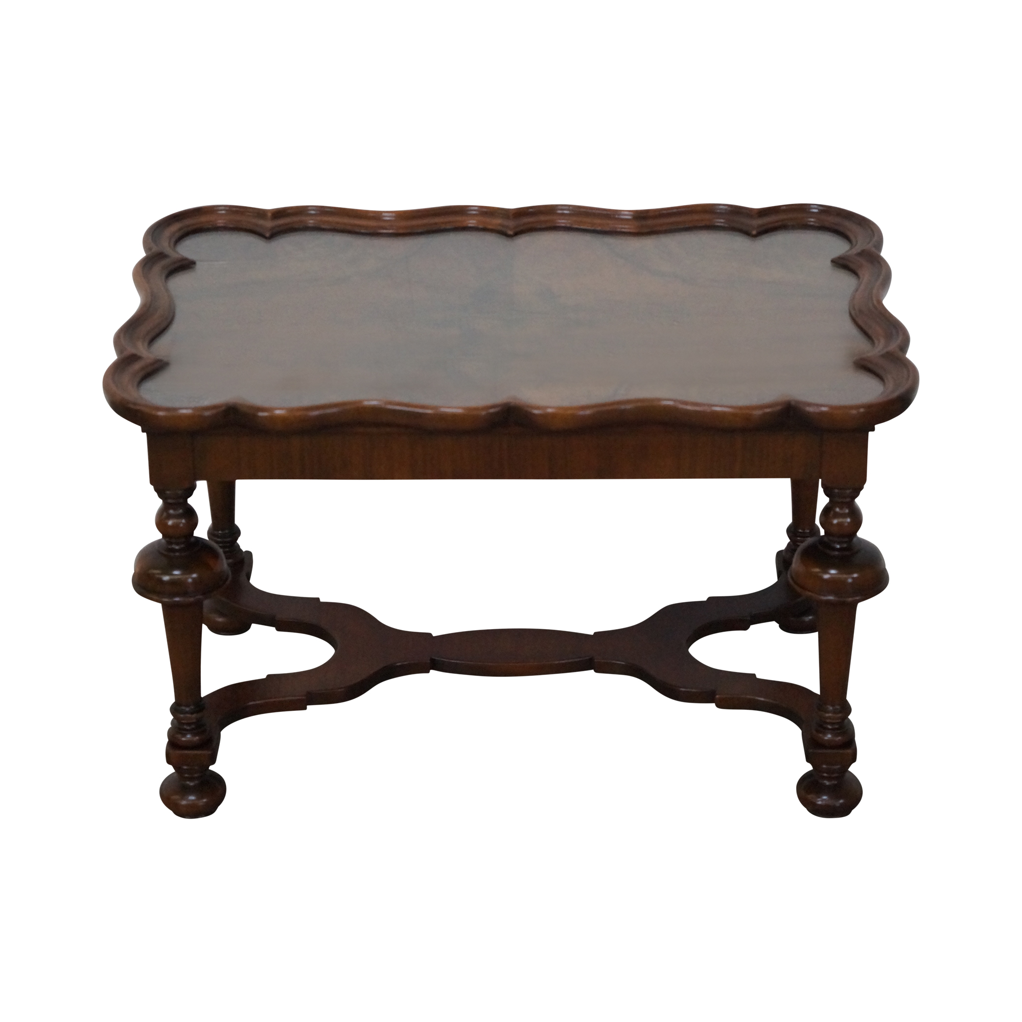 1930s antique burl walnut tray top coffee table chairish
