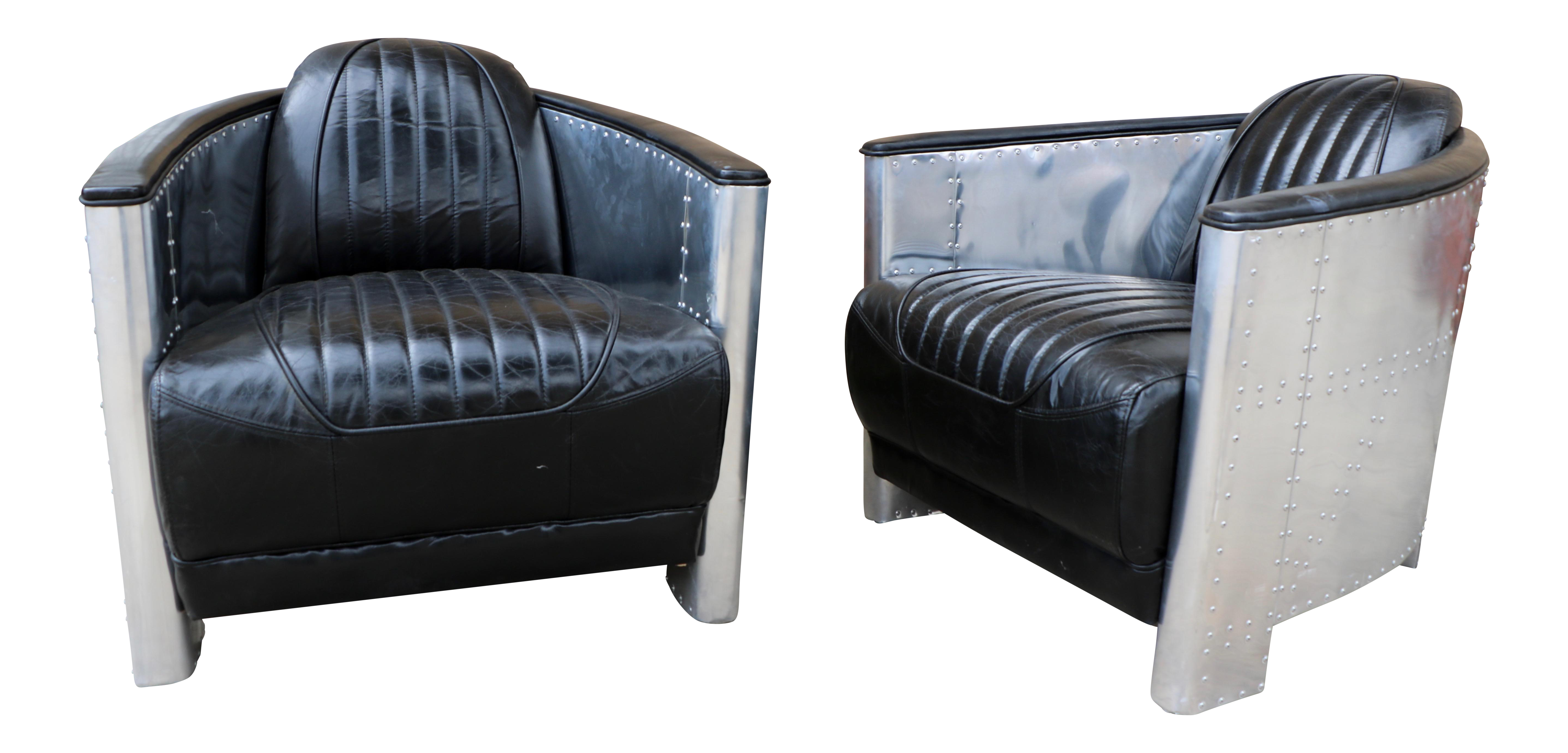 Aviator Style Chairs A Pair