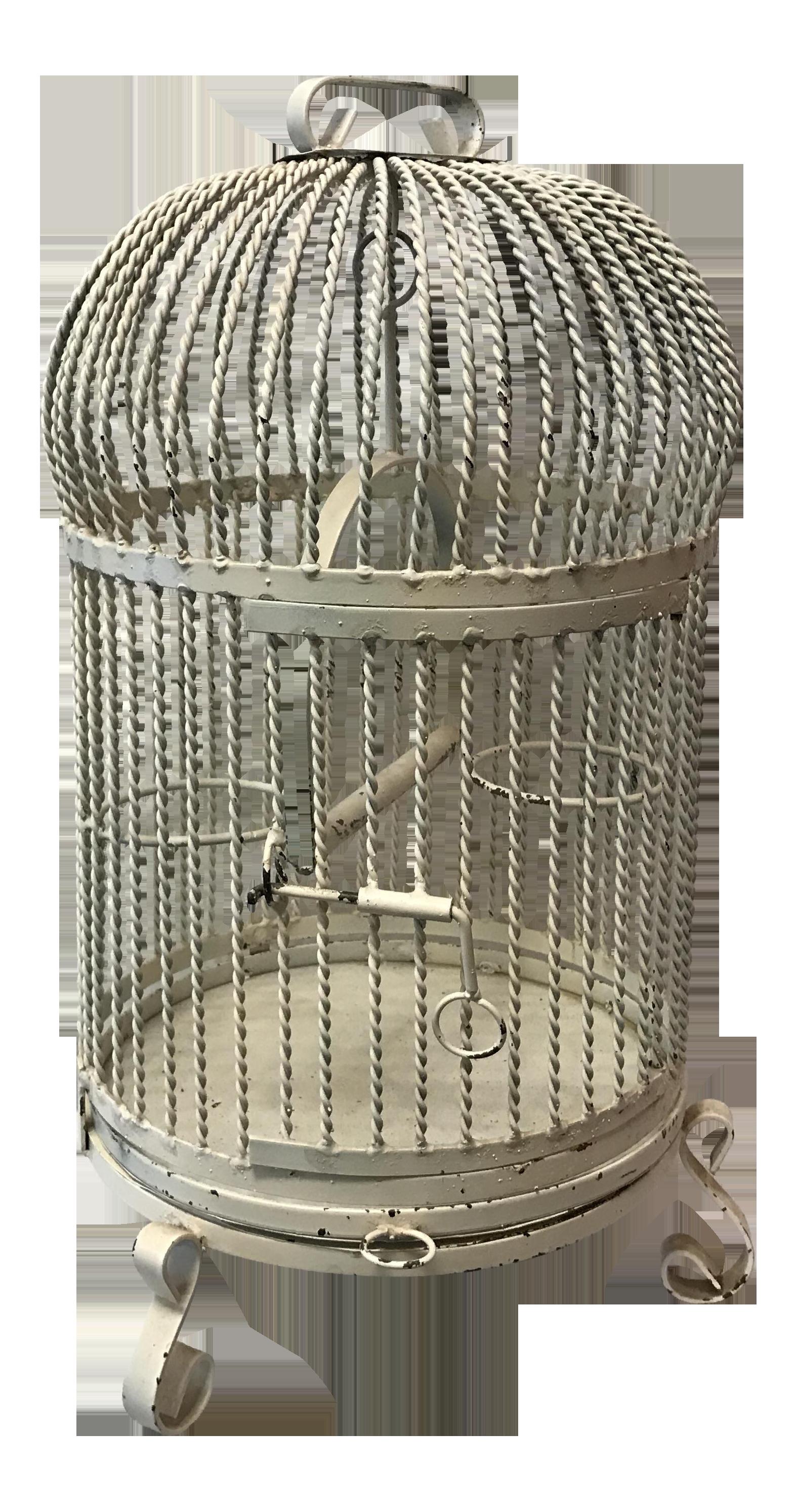 Antique Wrought Iron Bird Cage Chairish