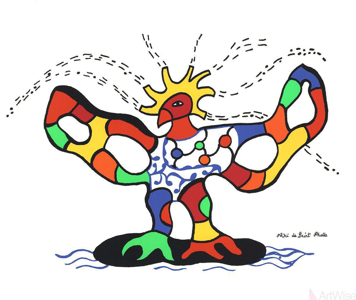 Niki De Saint Phalle Quot Bird Of Fire Quot Serigraph Poster