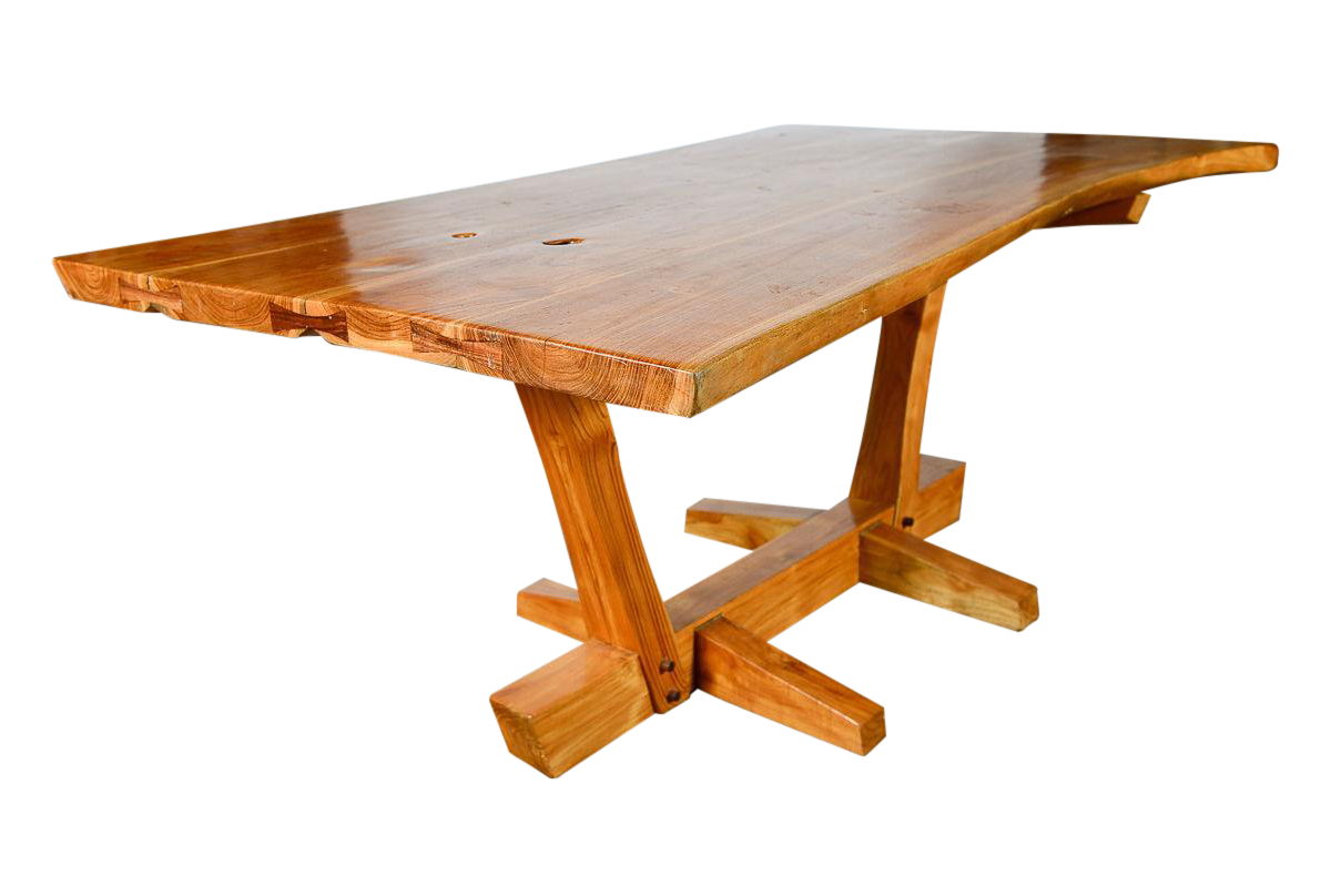 Nakashima Table george nakashima style conoid dining table | chairish