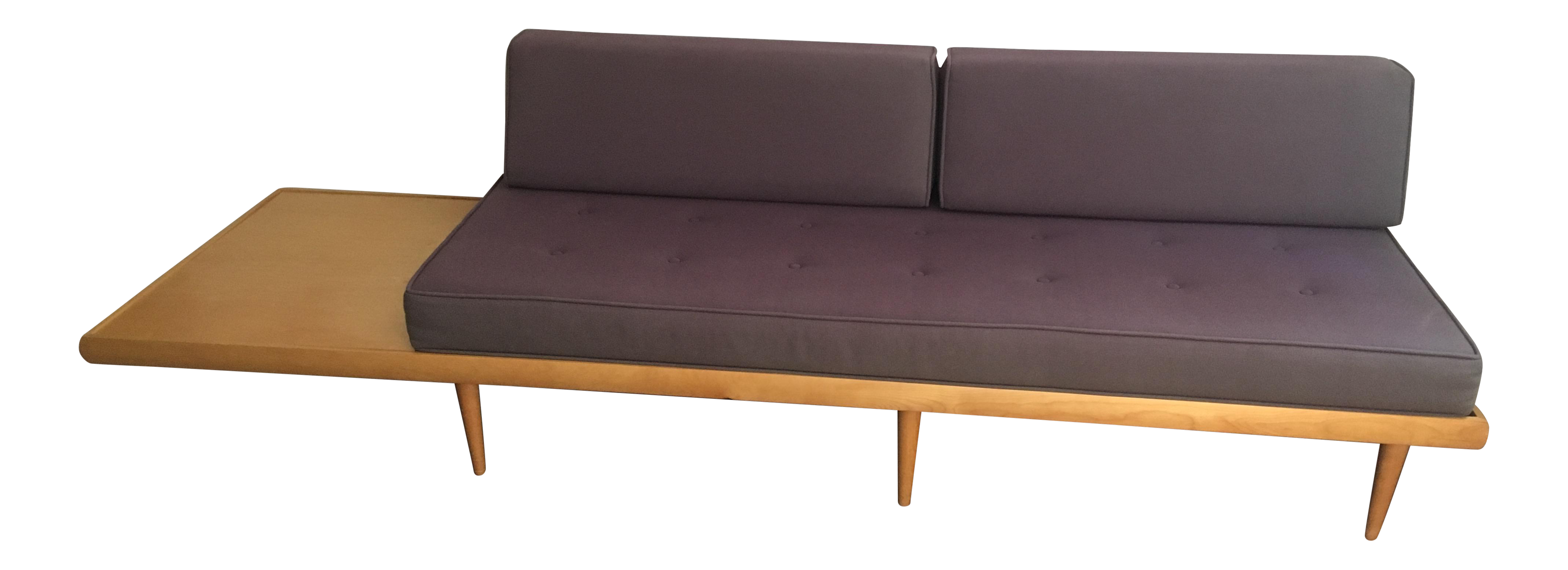Mid Century Modern Sofa With Built In Side Table