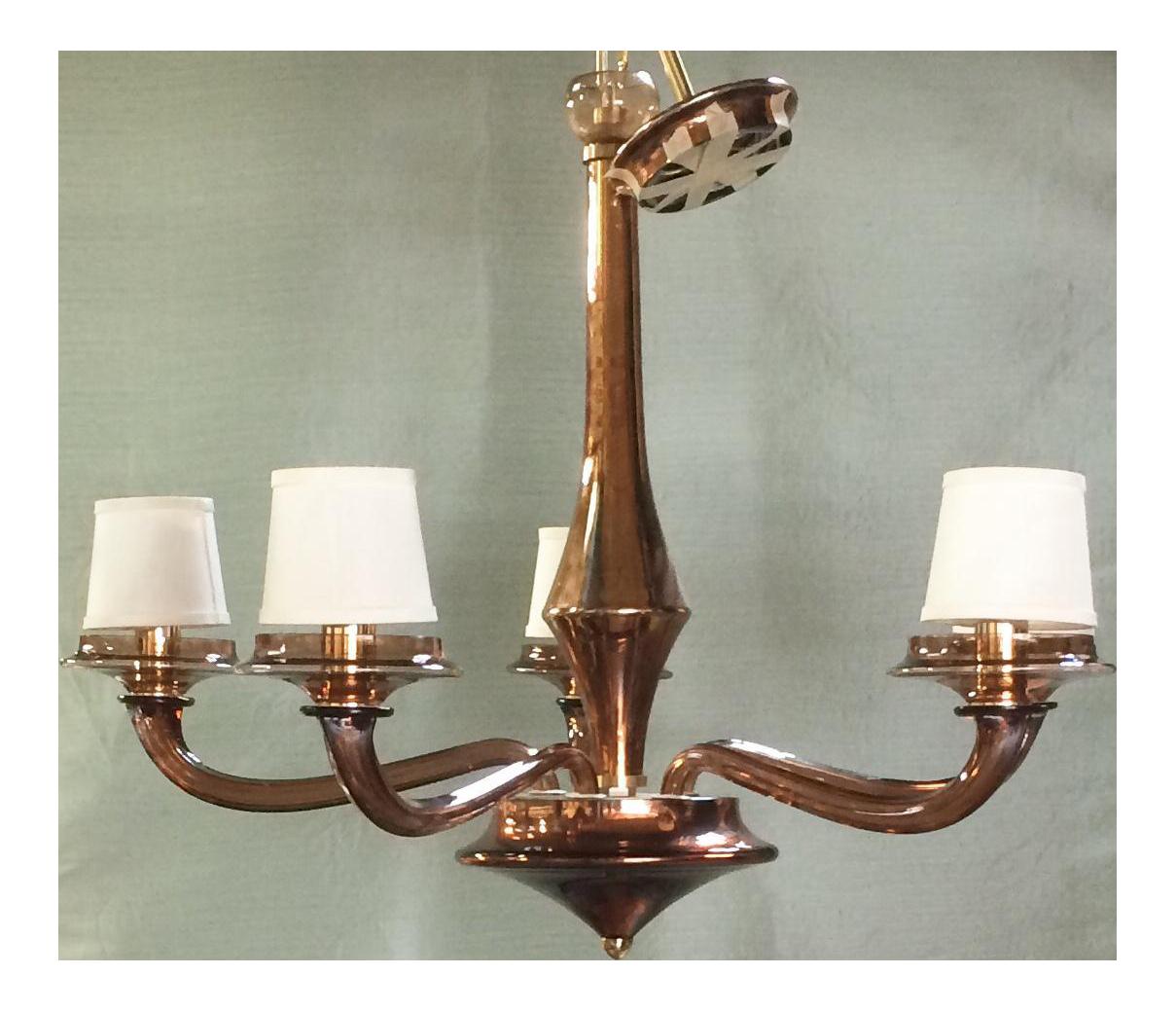 Vintage used bronze chandeliers chairish murano glass brass chandelier arubaitofo Image collections