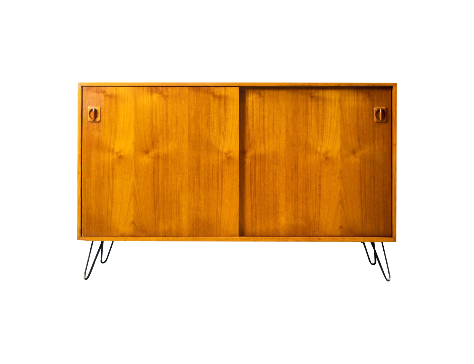 Danish Modern Hairpin Leg Teak Media Console Chairish
