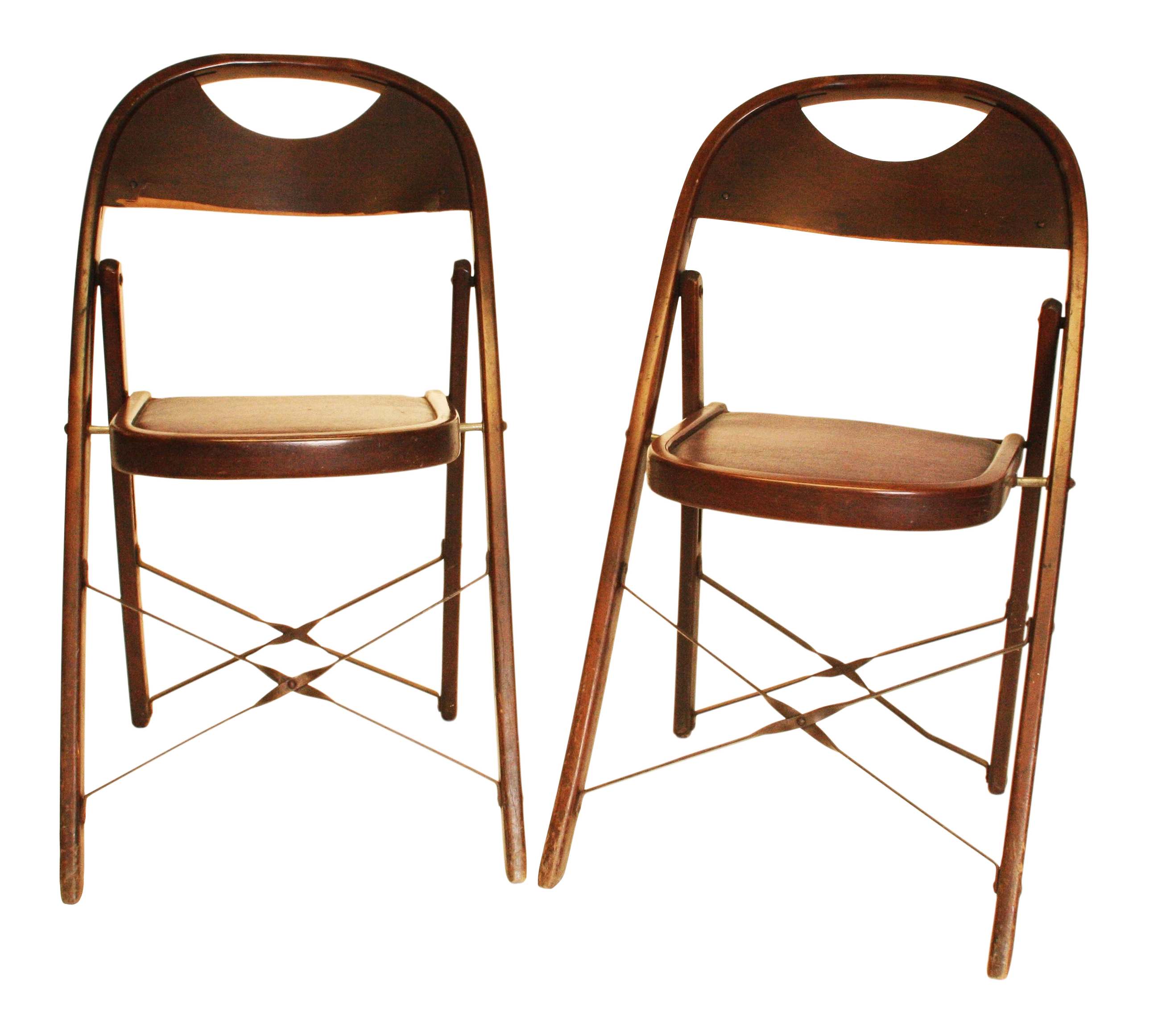 Vintage Bentwood Folding Chairs A Pair Chairish