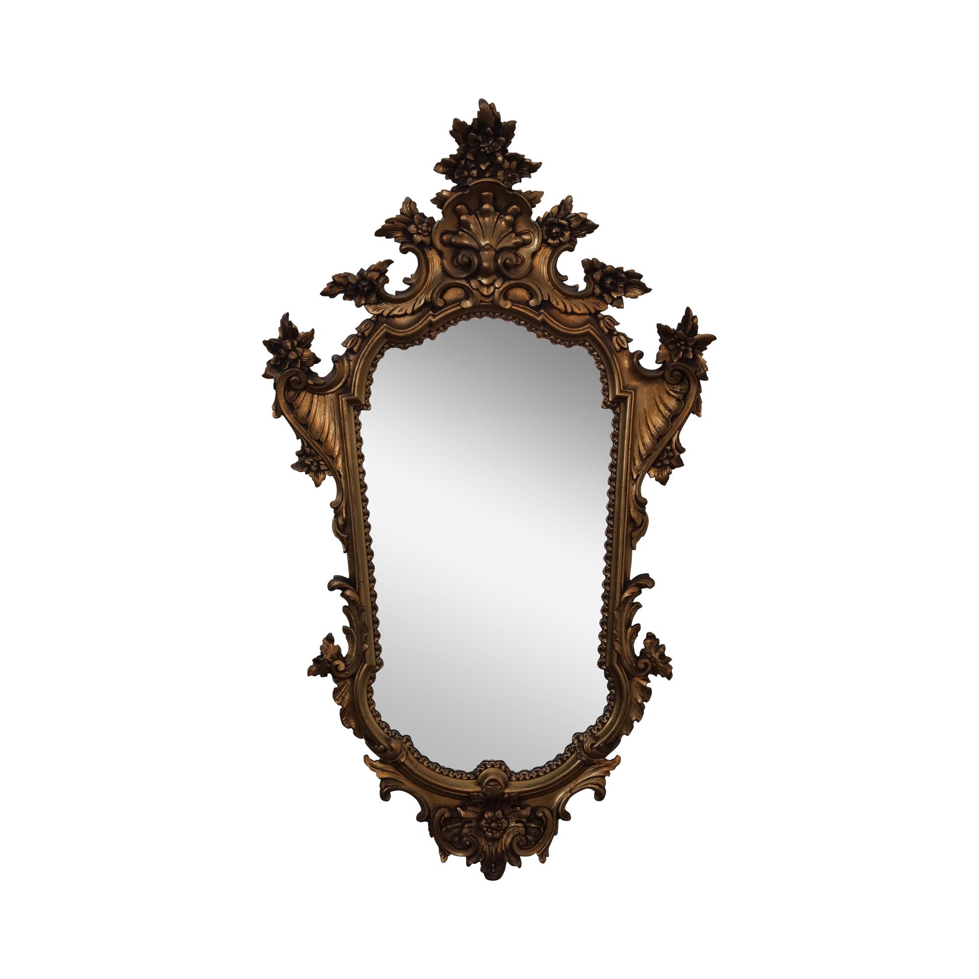 1950s gilt wood rococo hanging wall mirror chairish amipublicfo Choice Image