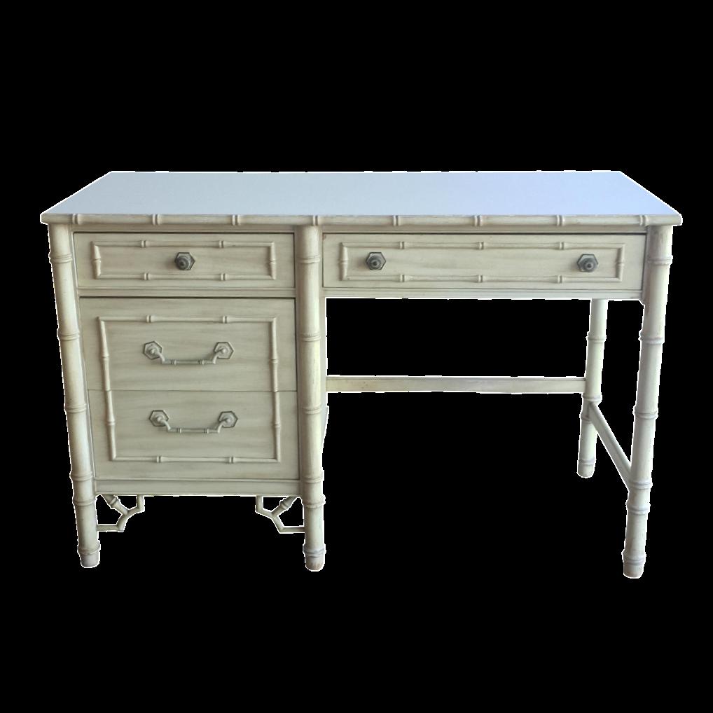 Vintage Thomasville Allegro Faux Bamboo Desk Chairish