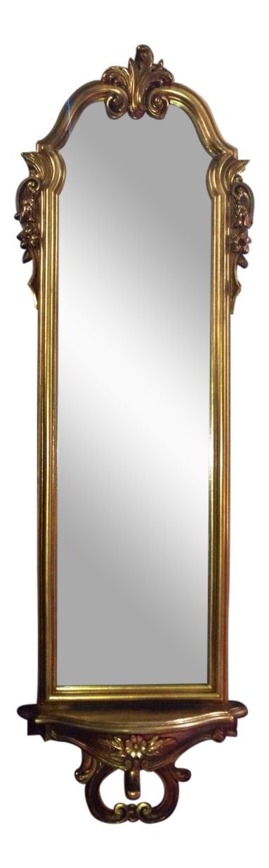 Vintage Full Length Gold Gilt Wall Mirror Chairish
