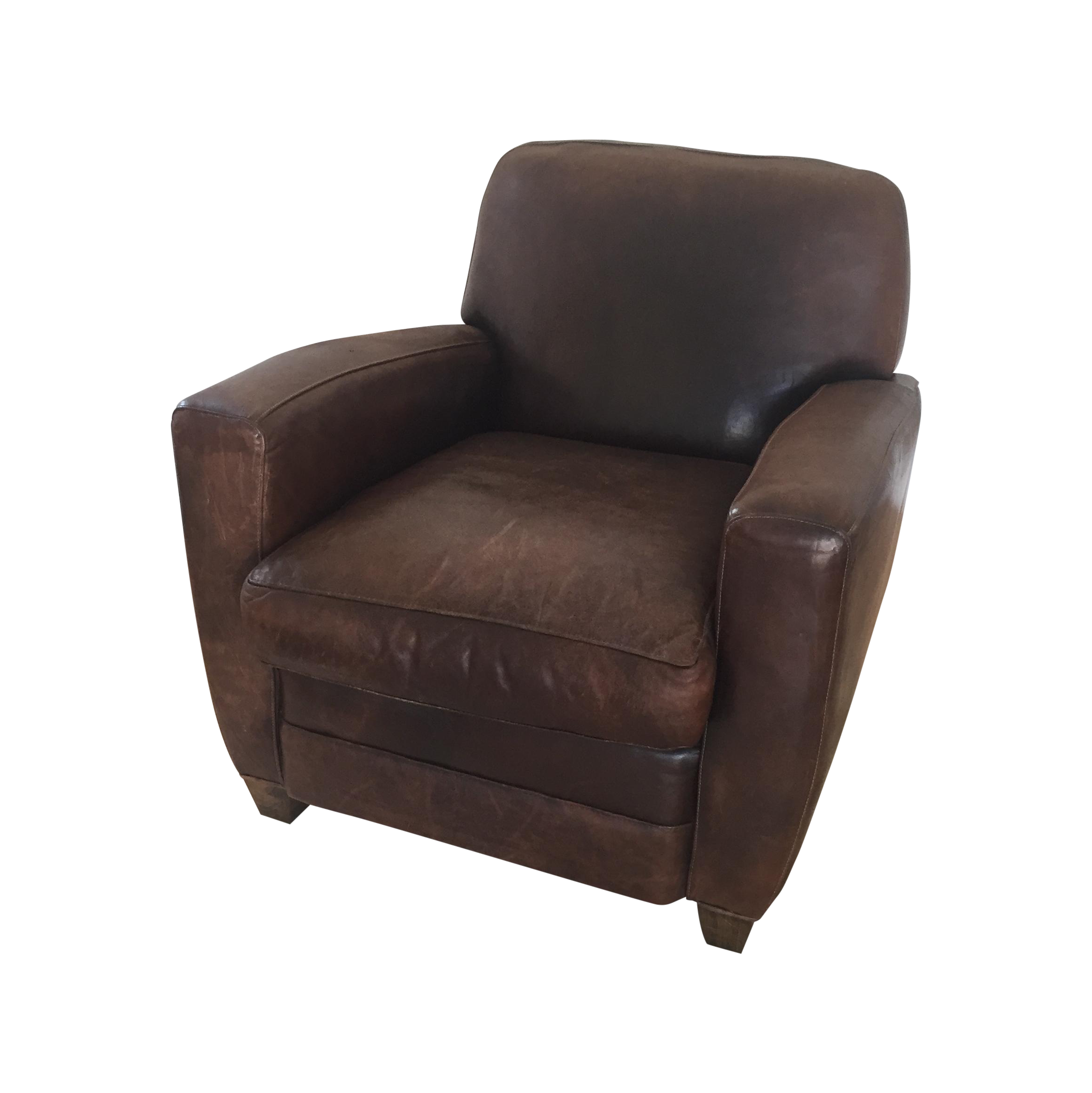 Restoration Hardware Leather : Restoration hardware french leather club chair chairish