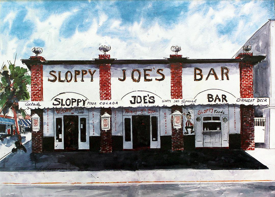 Sloppy Joe S Bar Vintage Poster Key West Florida Chairish
