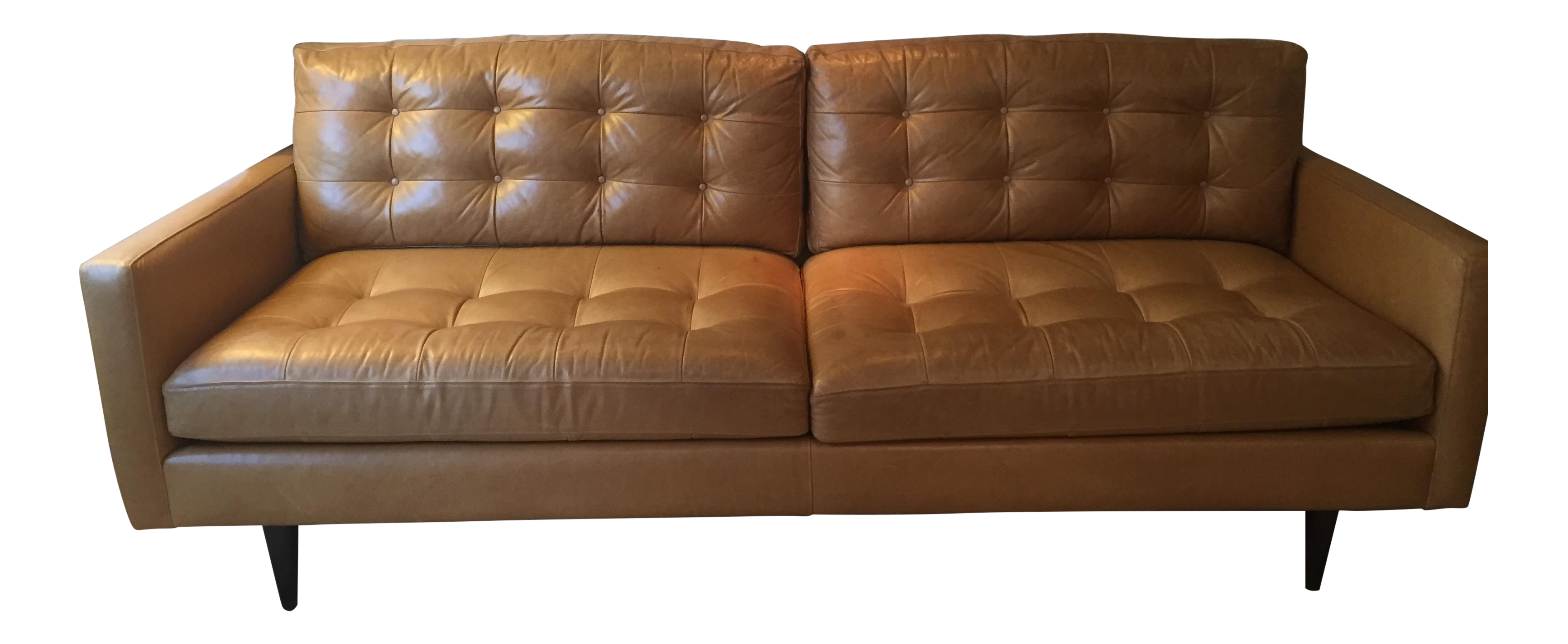 Crate & Barrel Petrie Leather Sofa